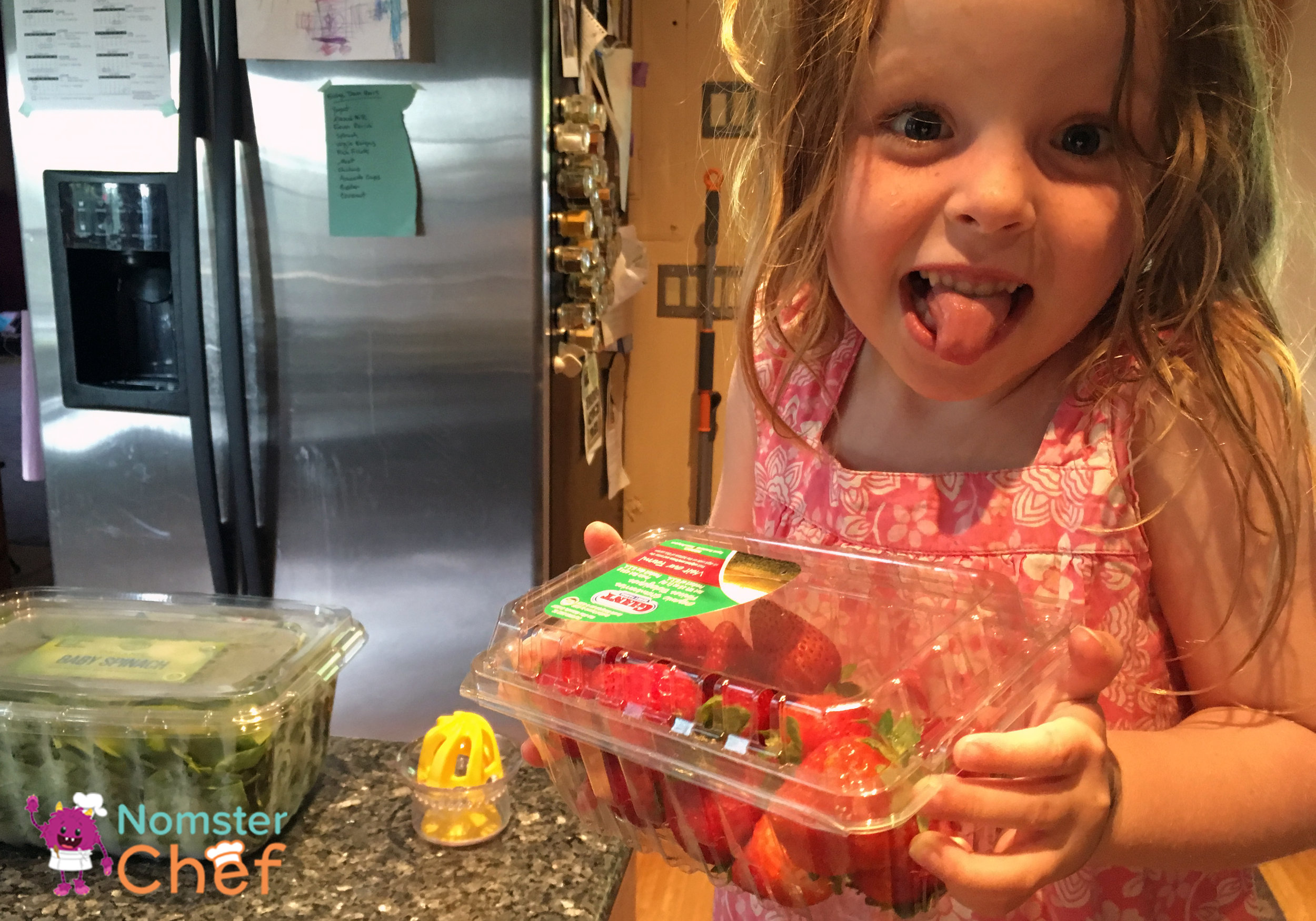 Then she got crazy and added some strawberries.