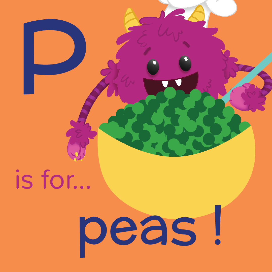 P is for Peas - Nomster Chef