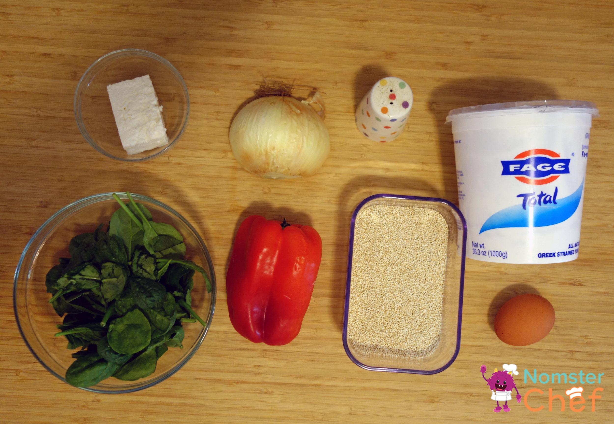 ingredients-quinoa snack bites-Nomster Chef