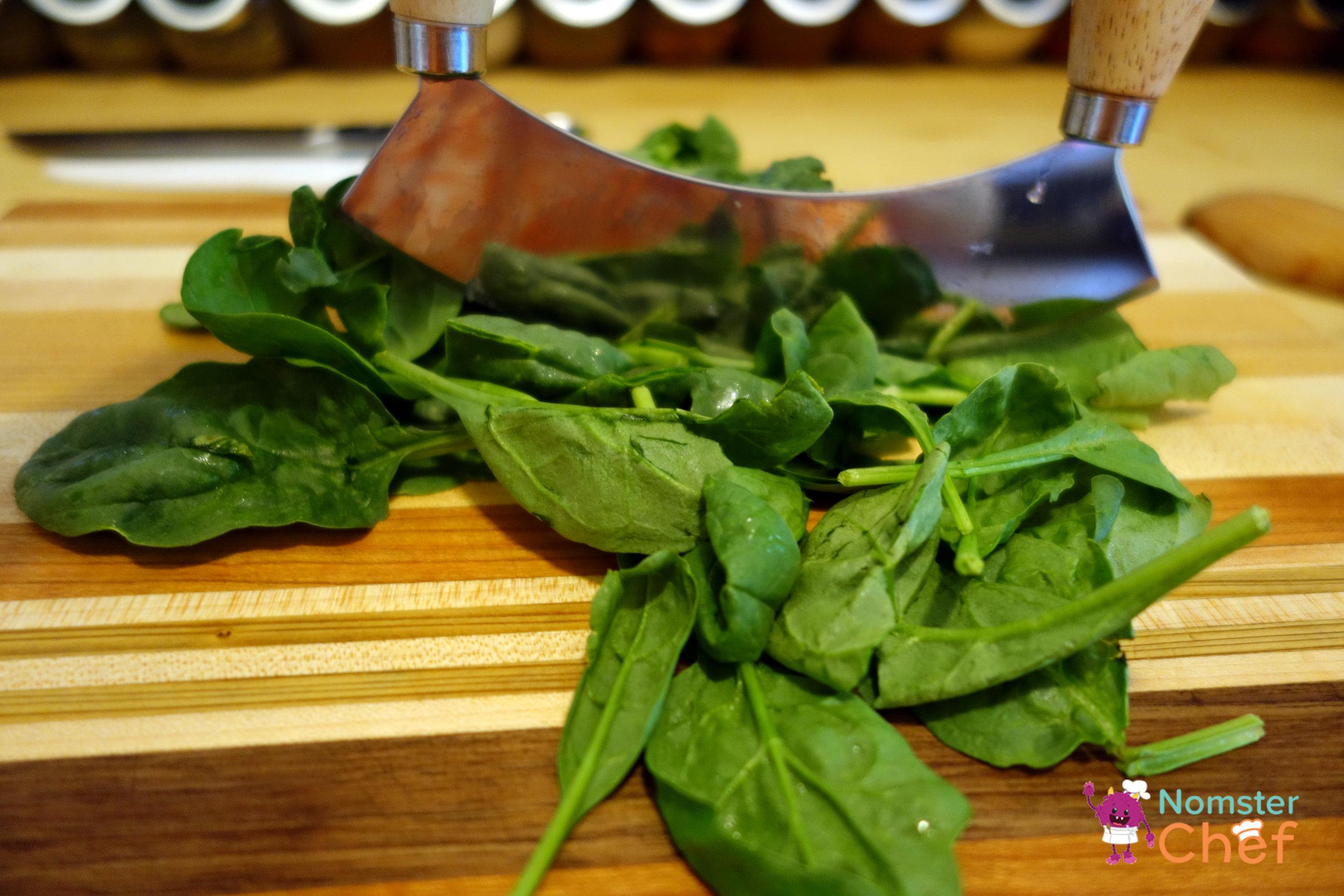 spinach chop-quinoa snack bites-Nomster Chef