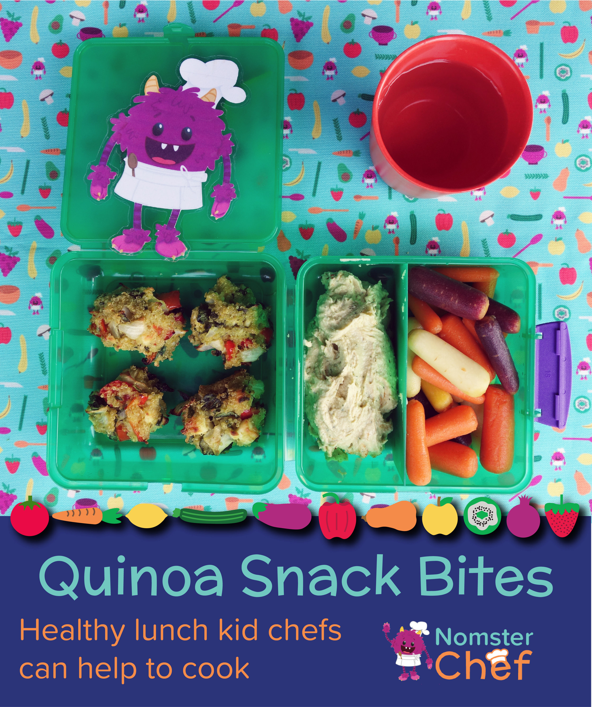 Q is for quinoa snack bites - Nomster Chef