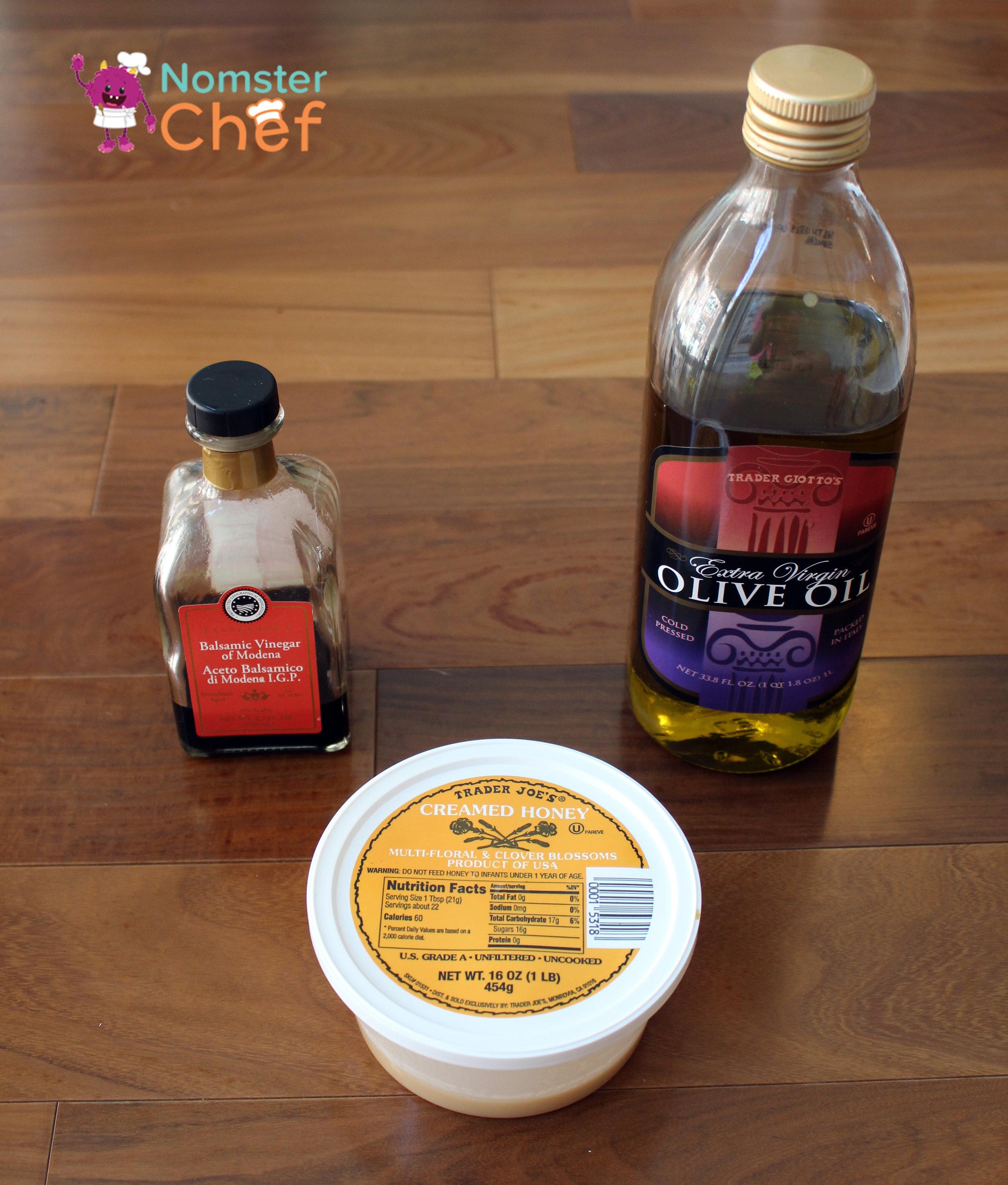 Honey Balsamic 1- food hacks - make your own salad dressing- Nomster Chef