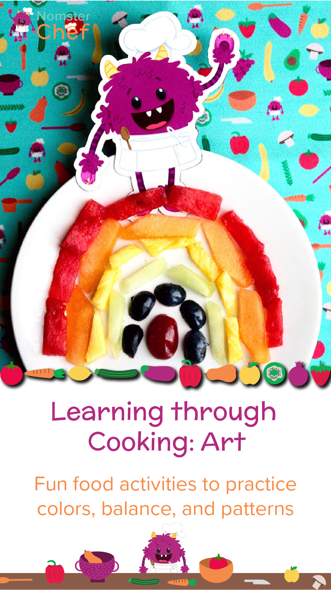 Nomster Chef Learning Through Cooking Art Fun Food Recipes