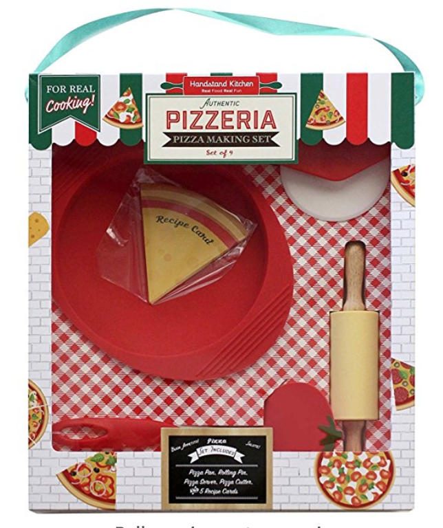 Handstand Kitchen Tiny Pizza Set - Make tiny pizzas with this adorable cooking set!