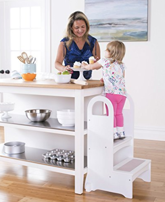 Guidecraft Step Stool - Another great option to give tiny kid chefs the height they need to be safe.