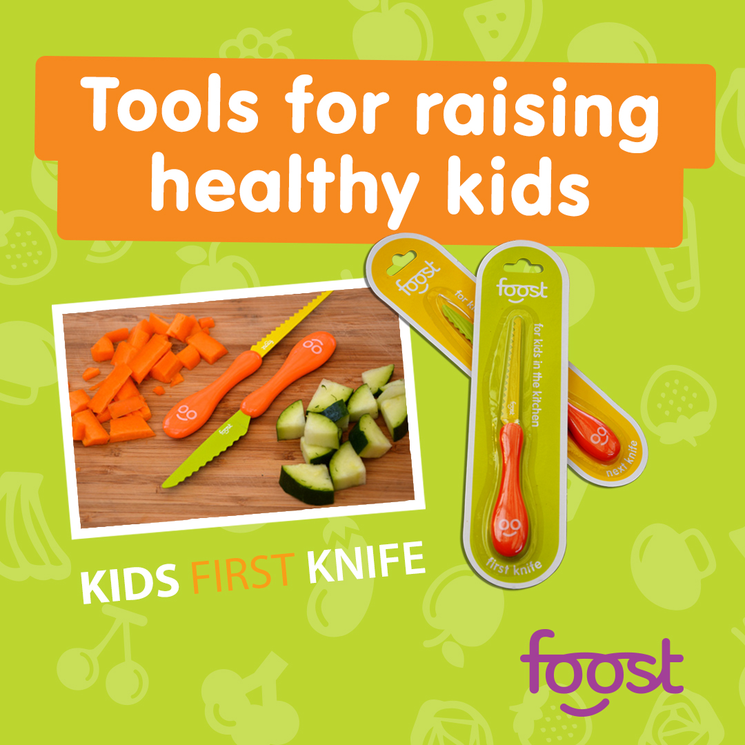 Foost Next Knife - Just like the Foost First Knife, this knife won't cut fingers. But, it's designed for kids with more experience, so it's recommended for kids age 6+.