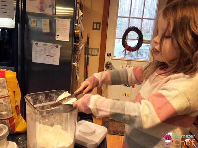 measuring flour - Cookie Jar Gift DIY for Kids .jpg
