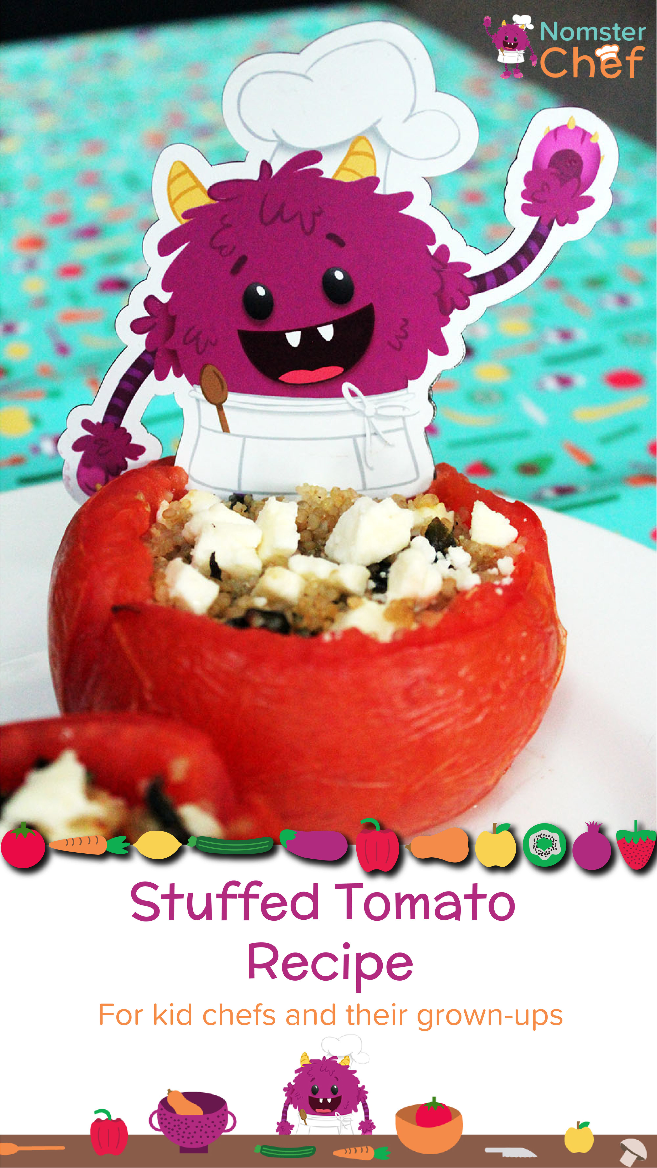 T is for Tomato - Stuffed Tomatoes - Nomster Chef