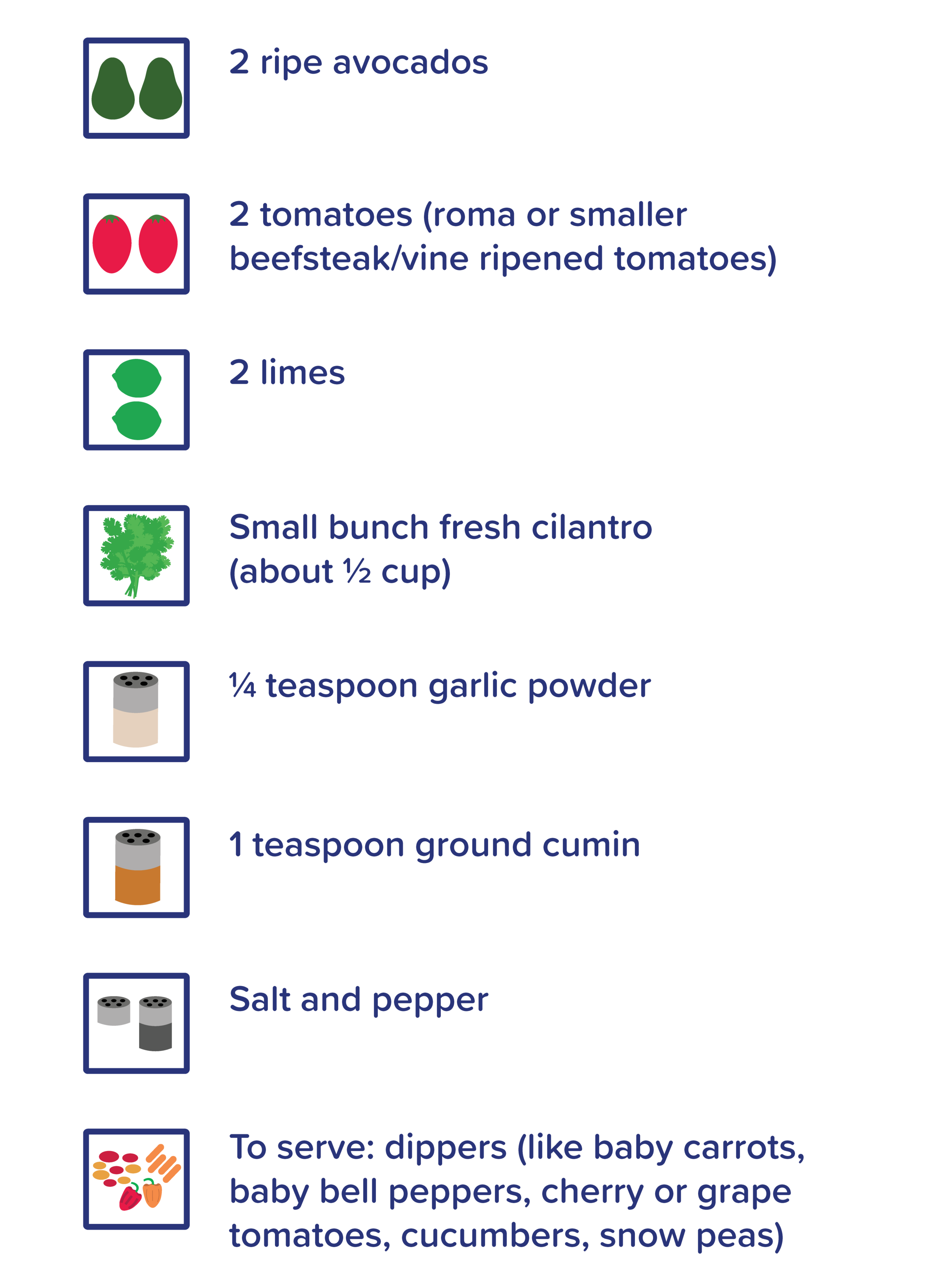 Nomster Chef_Great Green Guacamole_Grocery List_for overview-03.png
