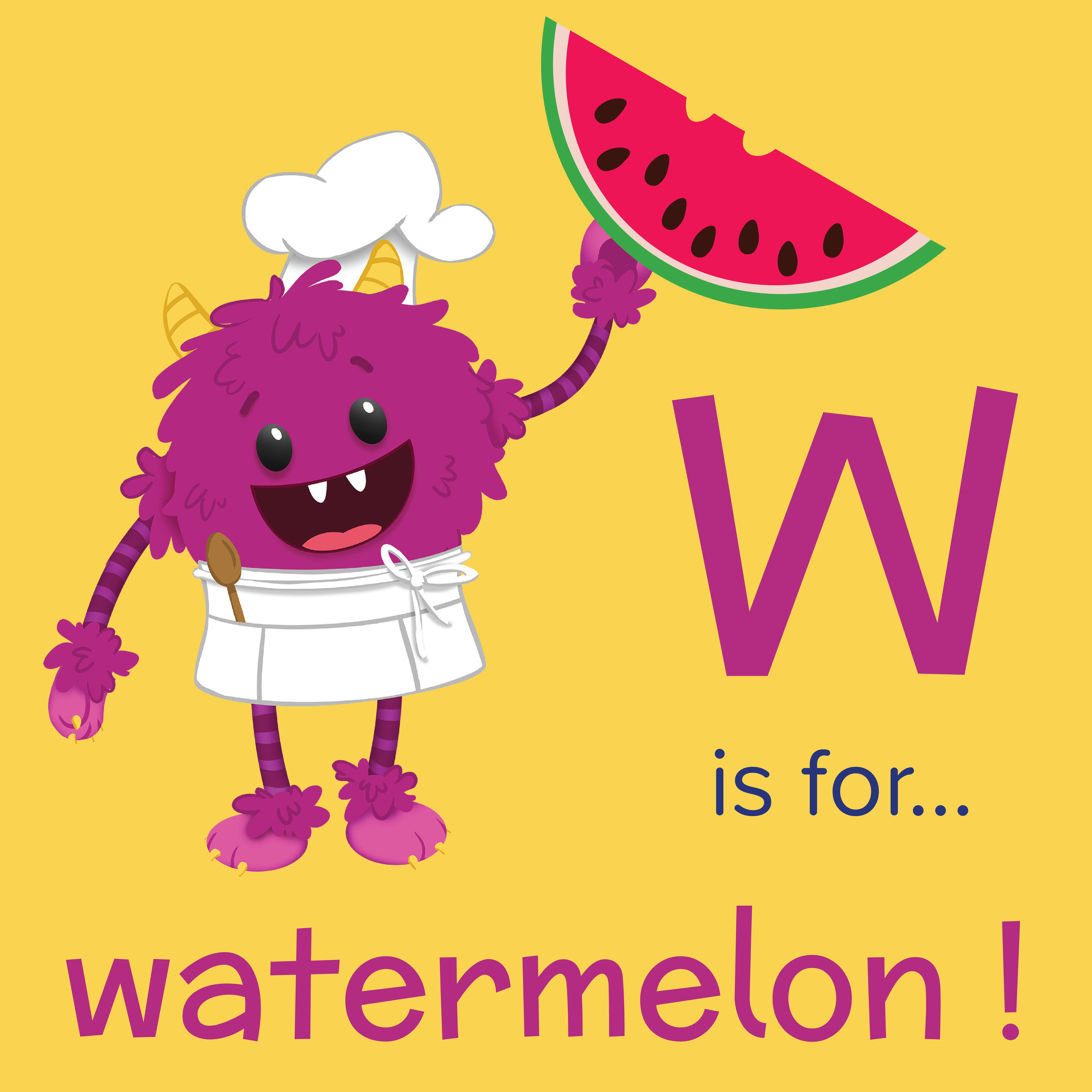 W-is-for-watermelon-nomster-chef