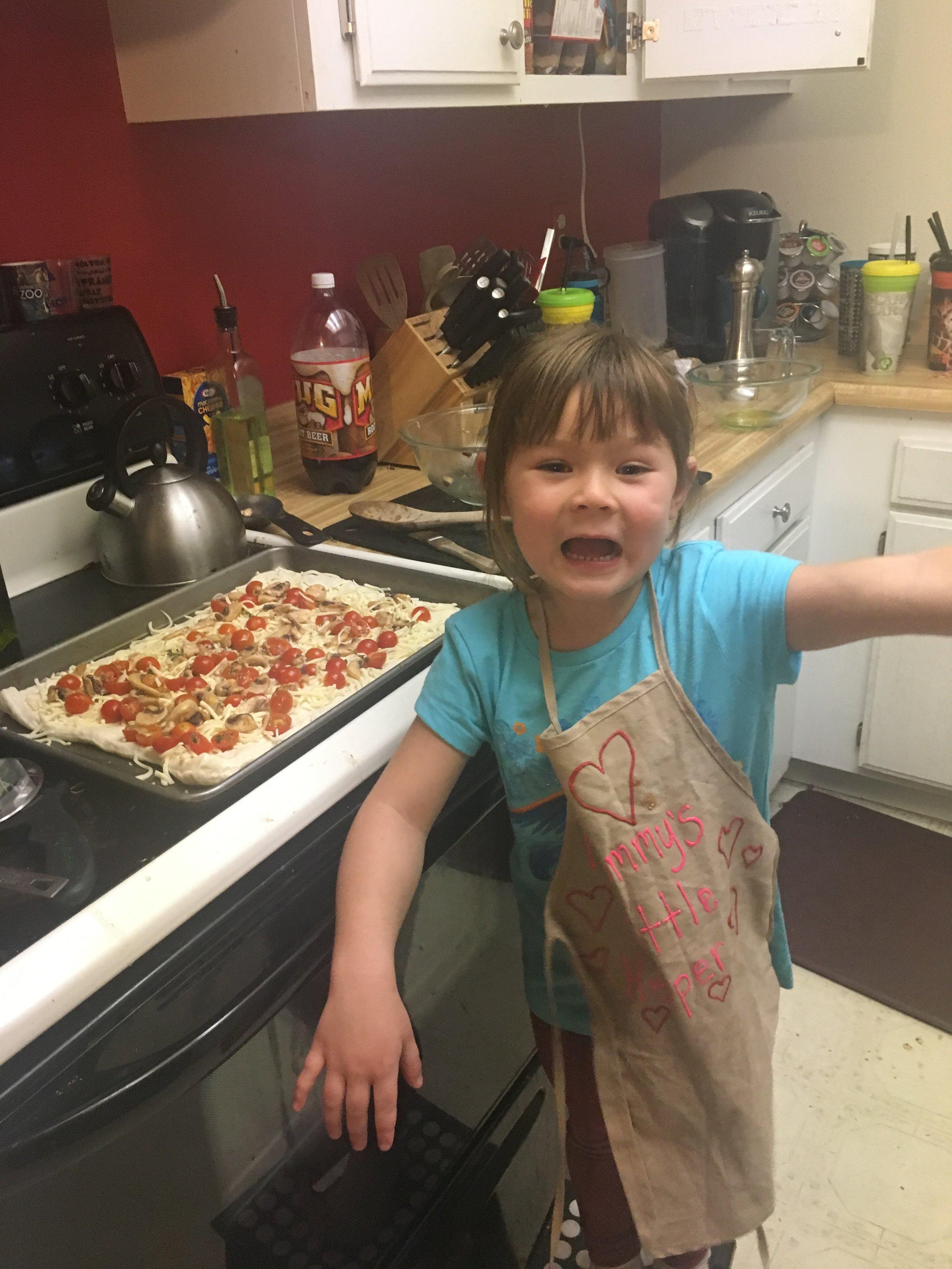 Chef Abbie, Age 5