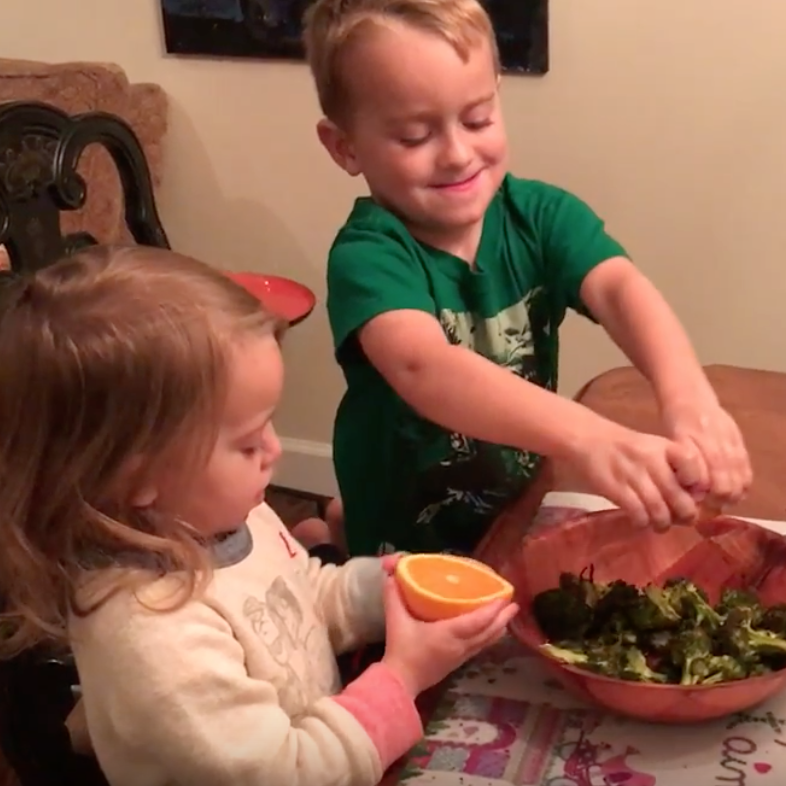 Chef Sean and Claire- Age 2 and 4