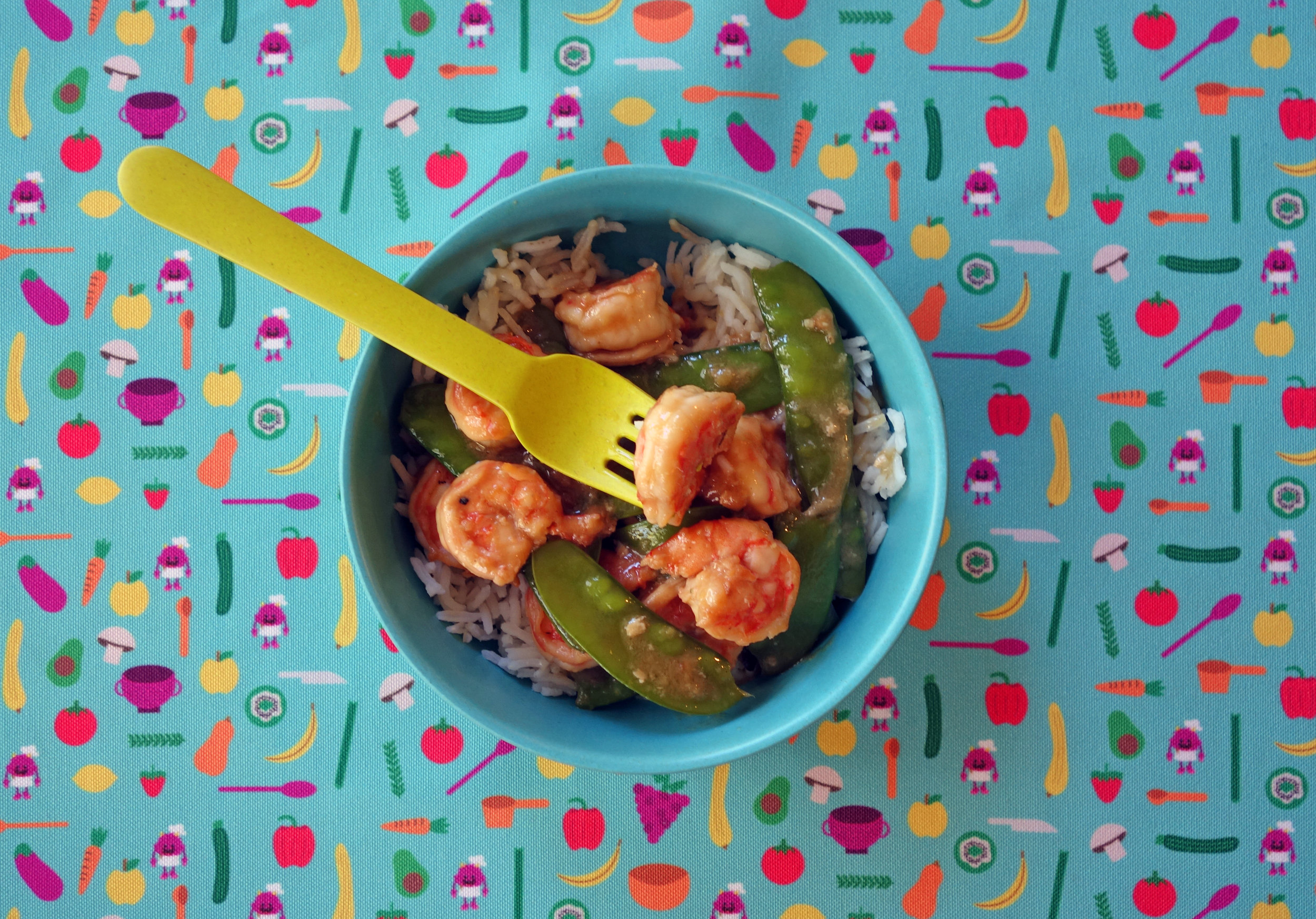 Moore Family Shrimp and Snow Pea Stir Fry -