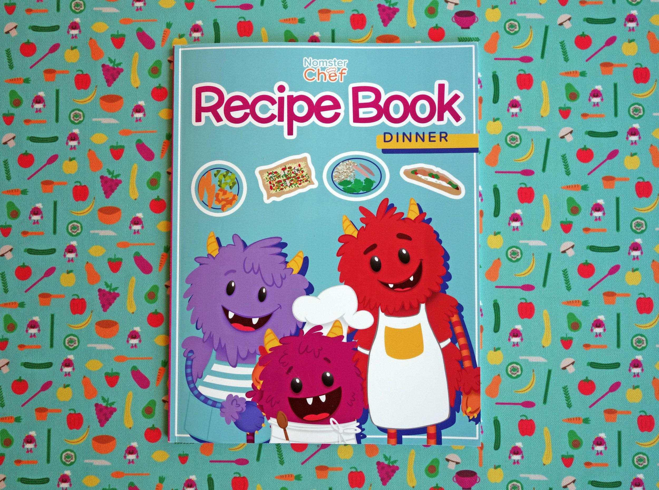 Nomster Chef Dinner Recipe Book - Cookbook for Kids