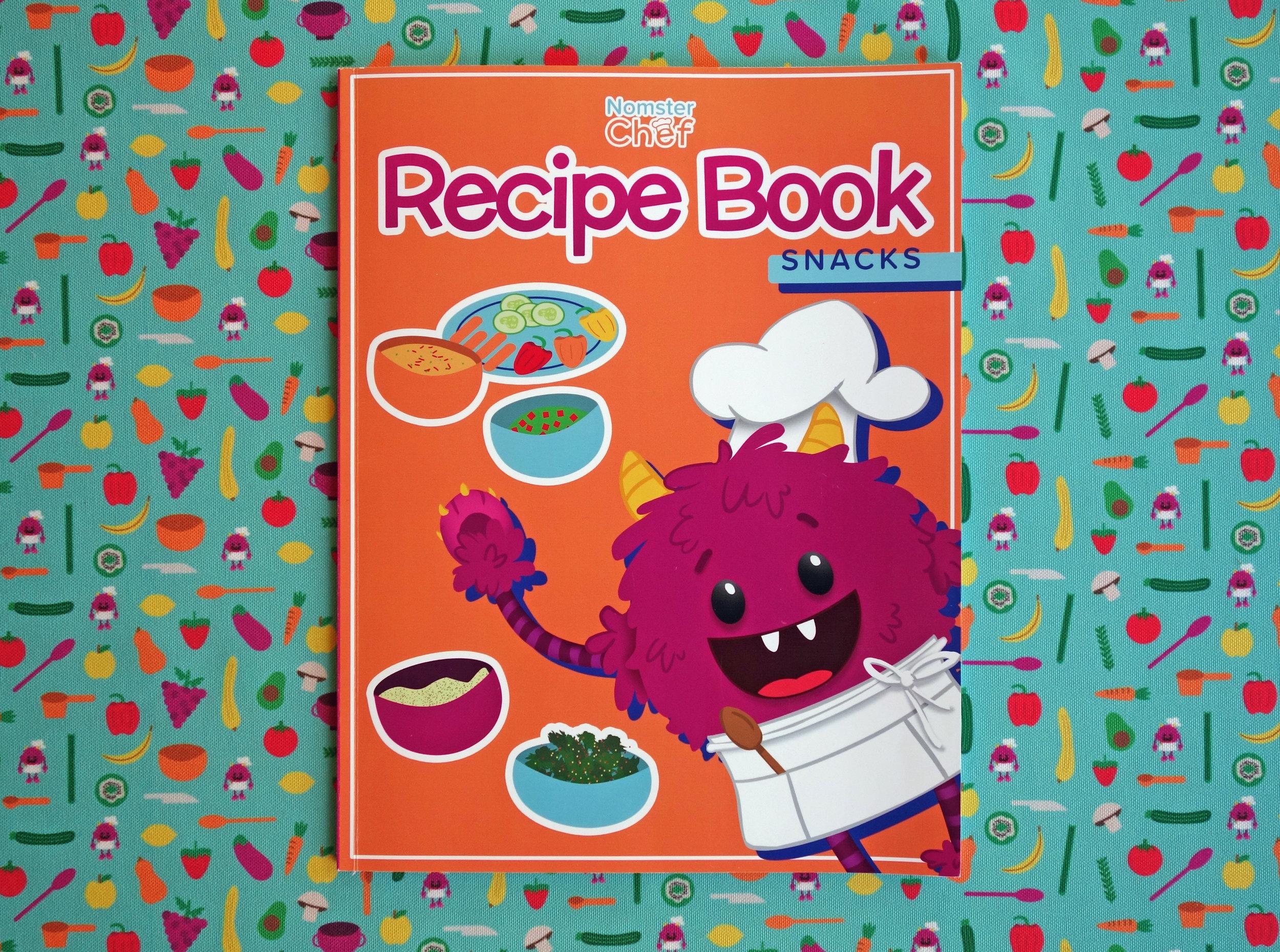 Nomster Chef Recipe Books Snacks - Cookbooks for Kids