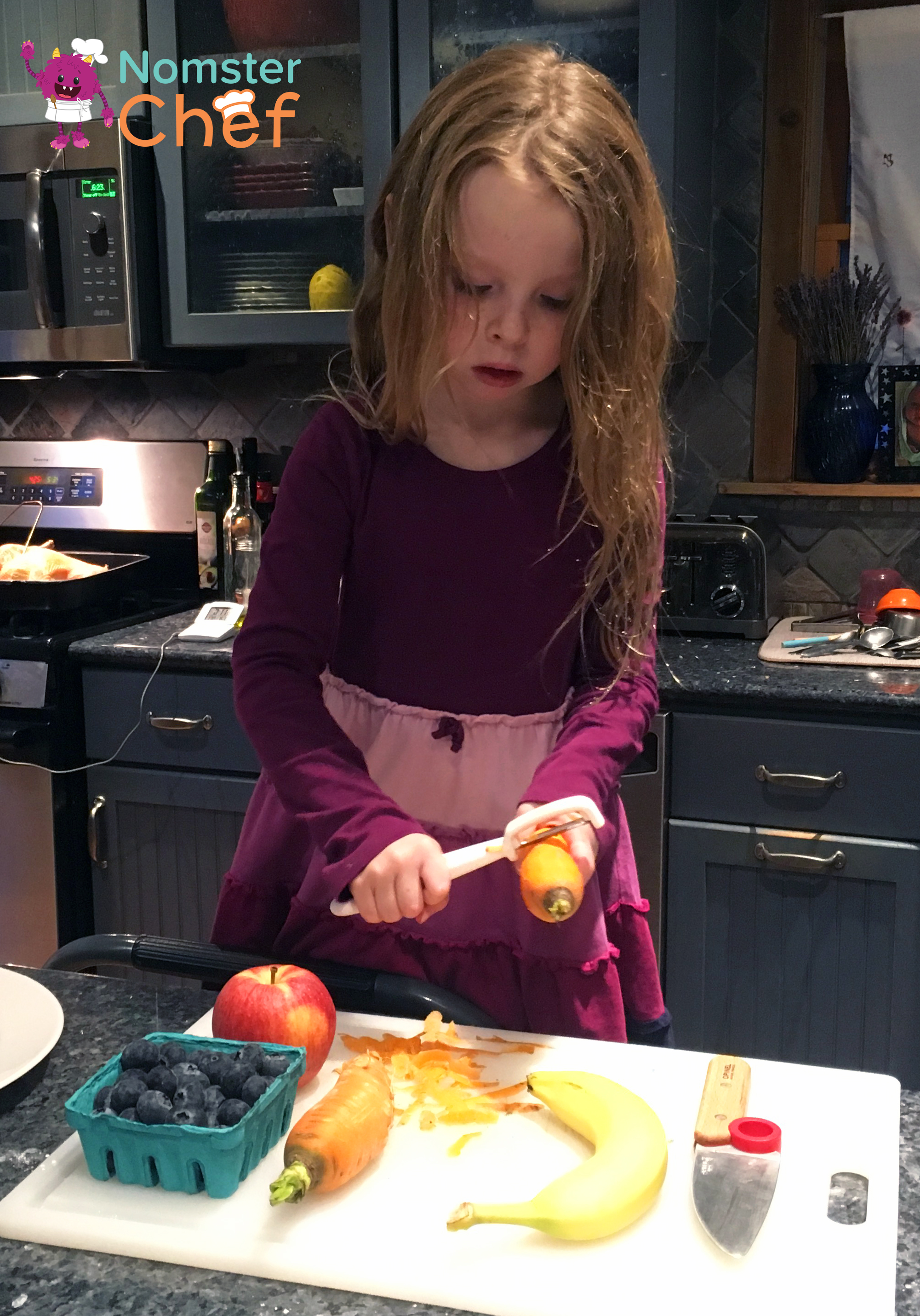 """Chef Emma executing her """"Carrot Stacks"""" recipe"""