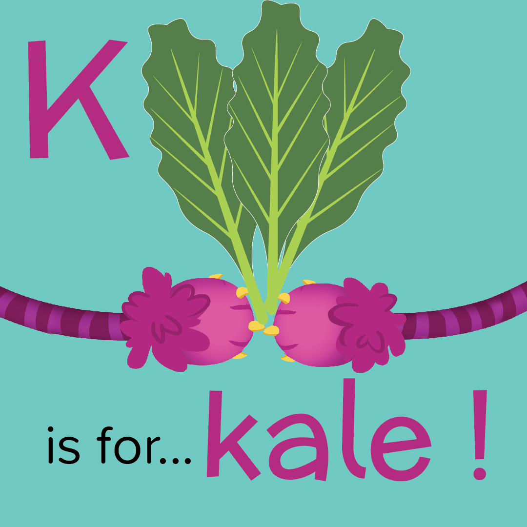 Foods that start with K, K is for Kale, foods beginning with the letter k, recipes starting with k, recipes a to z