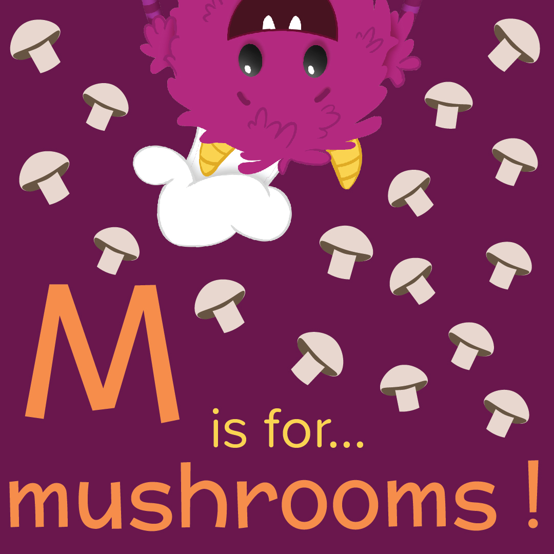Foods that start with M, M is for mushrooms, foods beginning with the letter m, recipes starting with m, recipes a to z