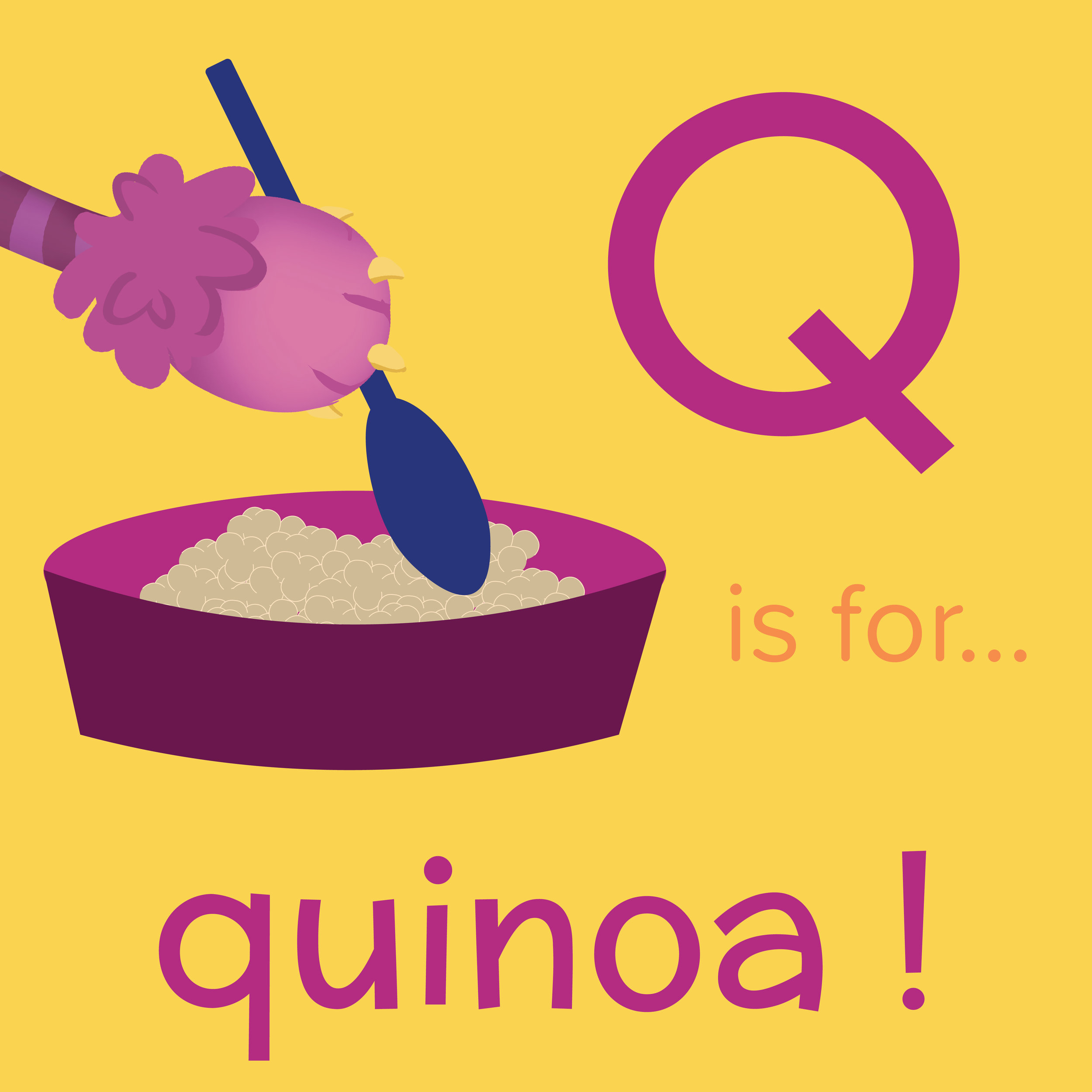 Foods that start with Q, Q is for quinoa, foods beginning with the letter q, recipes starting with q, recipes a to z