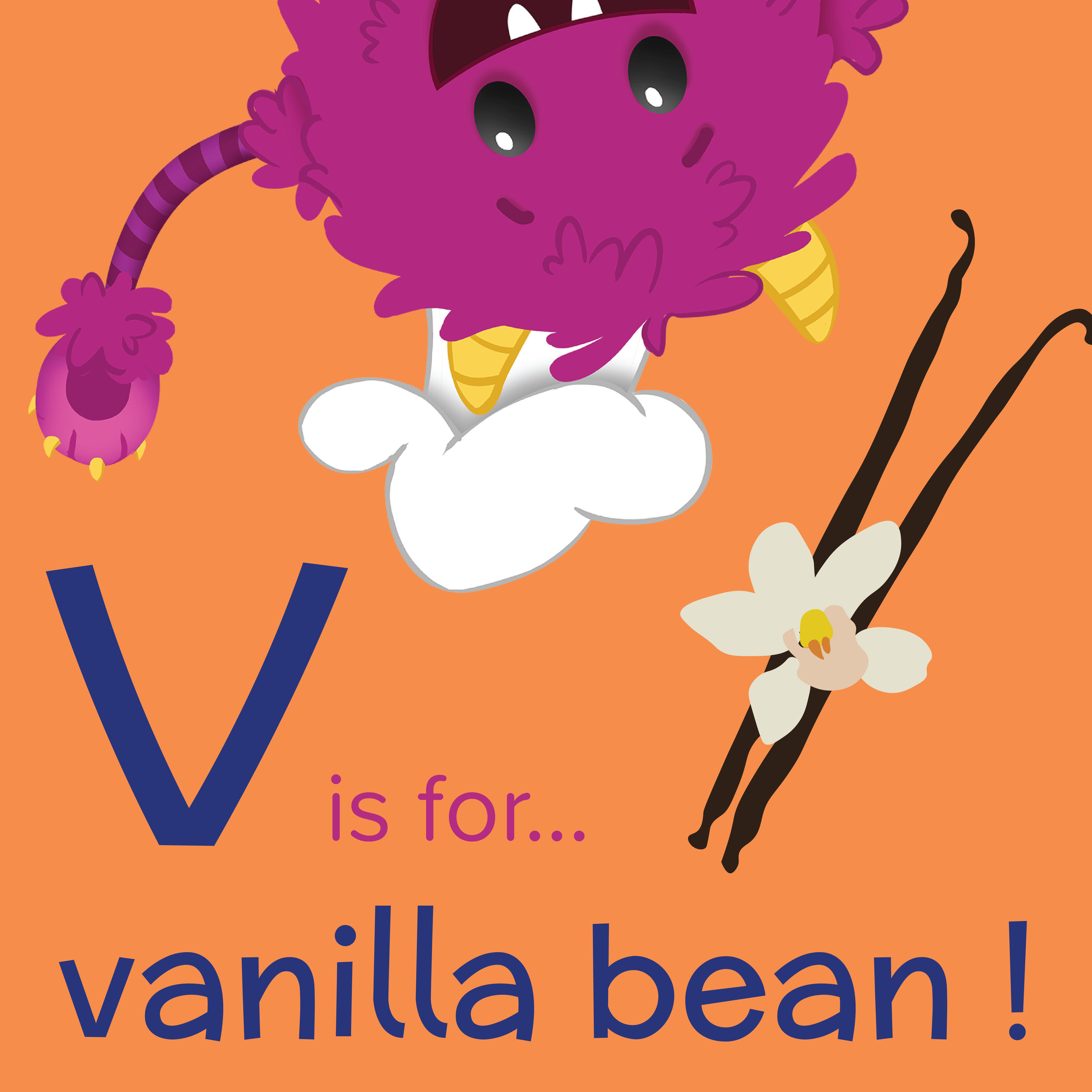 Foods that start with V, V is for Vanilla bean, foods beginning with the letter v, recipes starting with v, recipes a to z