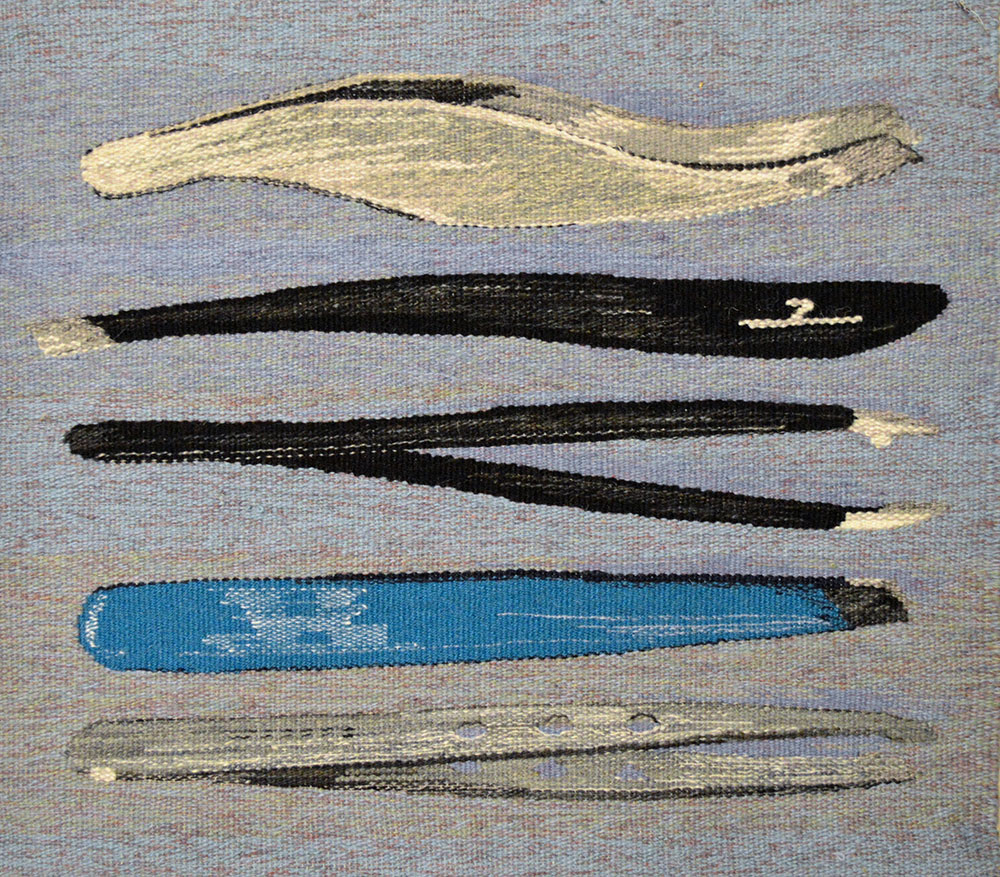 """Tweezers 2 ,2016 Wool and cotton 24"""" x 22""""   View Larger"""