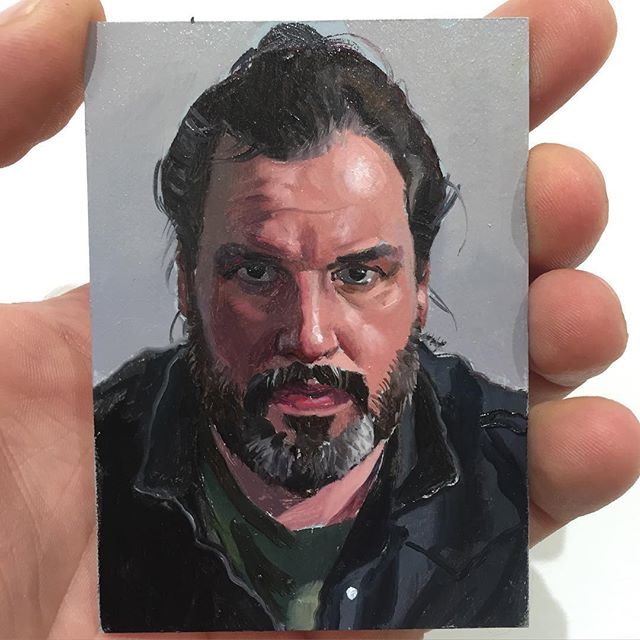 Jean-Pierre Roy  lf Portrait,  2016 Oil on illustration board 3.5 x 2.5""
