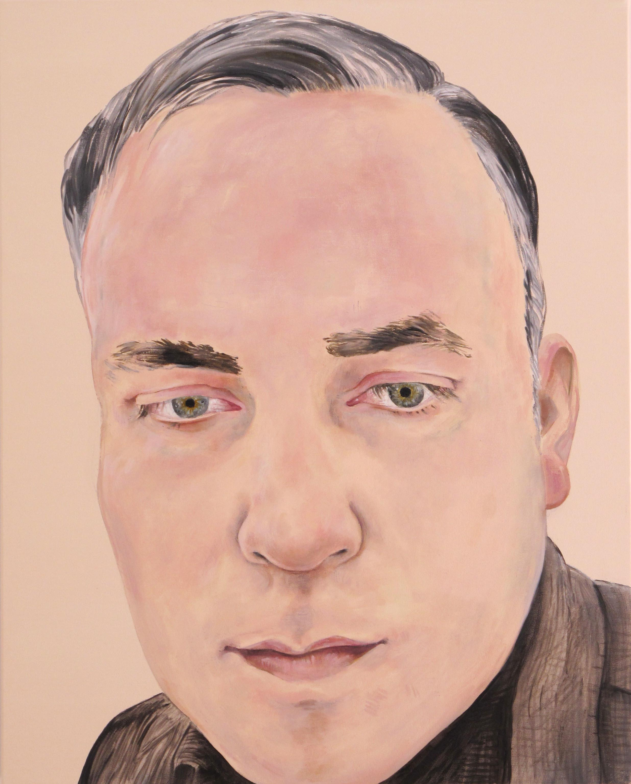 Noah Becker   Self Portrait #2,  2014 Oil on canvas 24 x 30""
