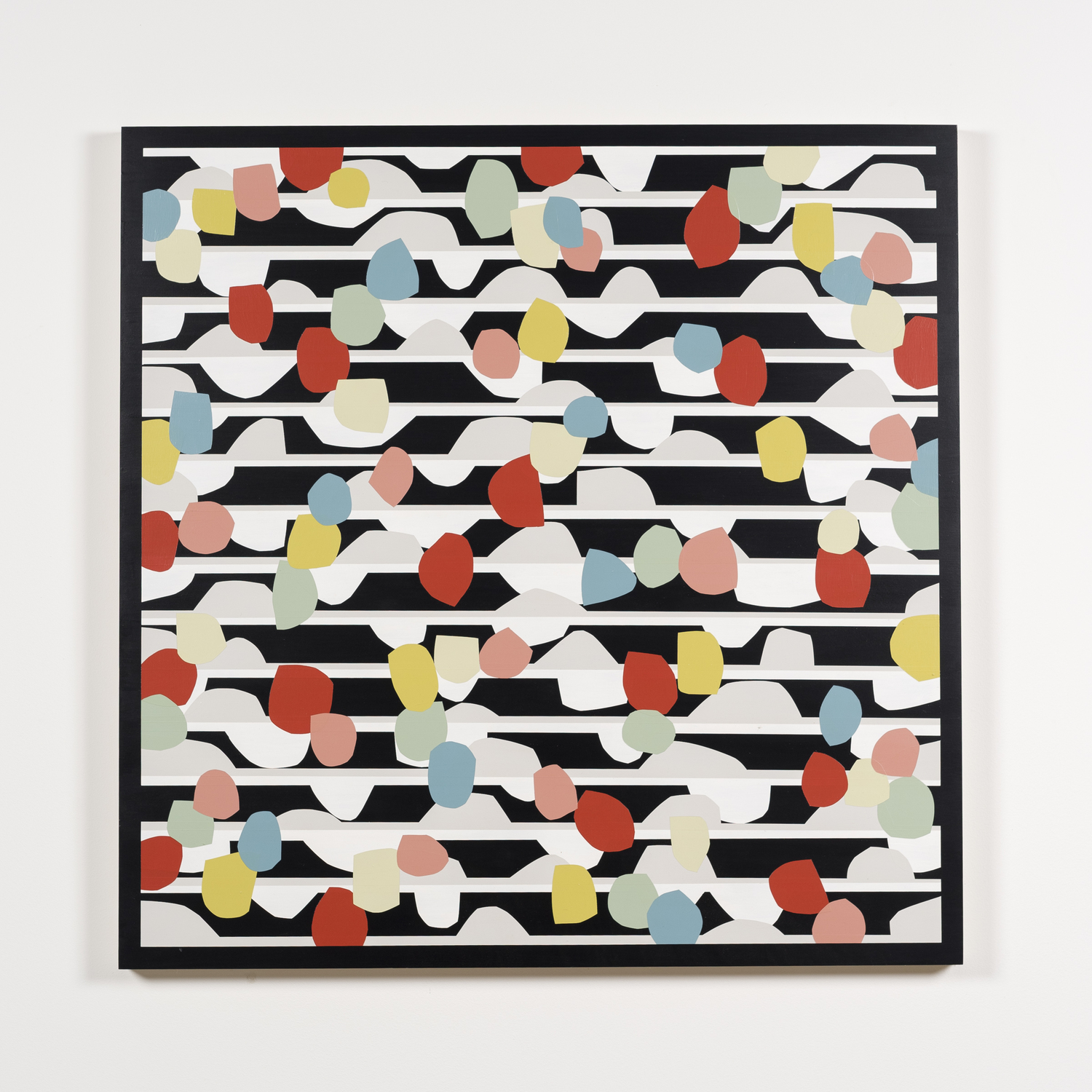 Nick Jaskey   Untitled 6  , 2015   House paint on wood panel  36 x 36 ""