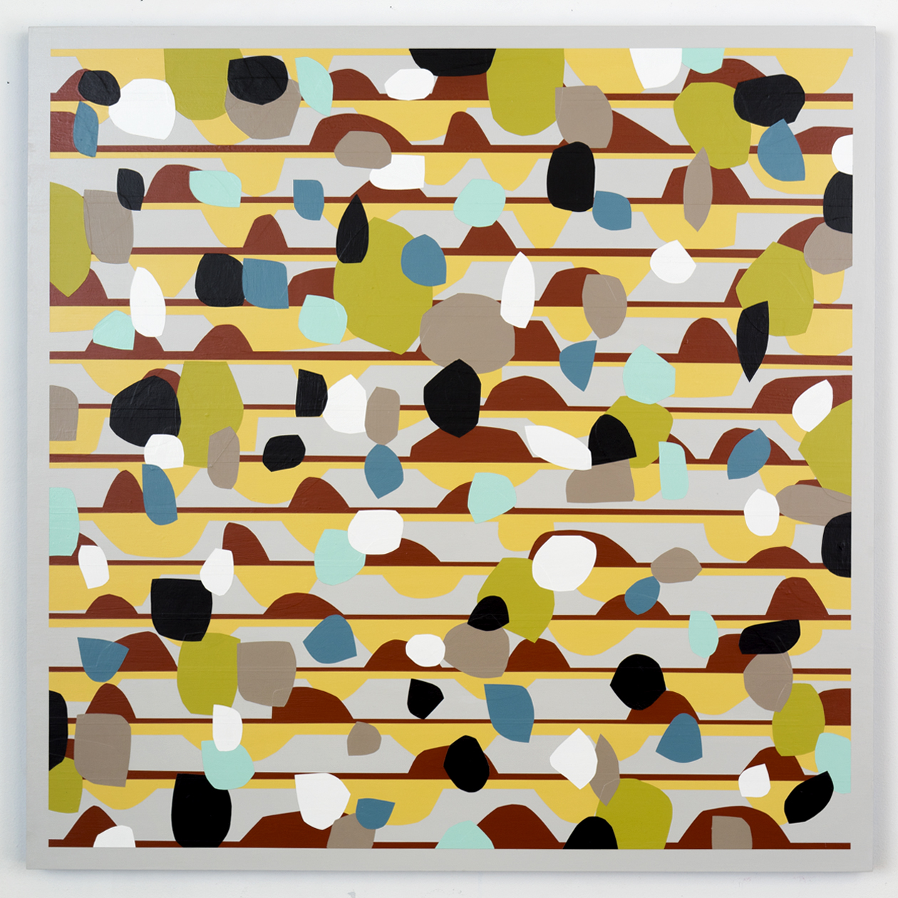 Nick Jaskey   Untitled 5  , 2015   House paint on wood panel   36 x 36  ""