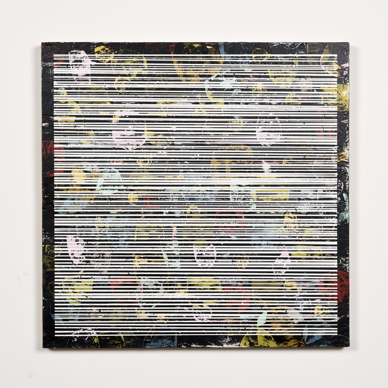 Nick Jaskey   Untitled 1  , 2015   House paint on wood panel   24 x 24  ""