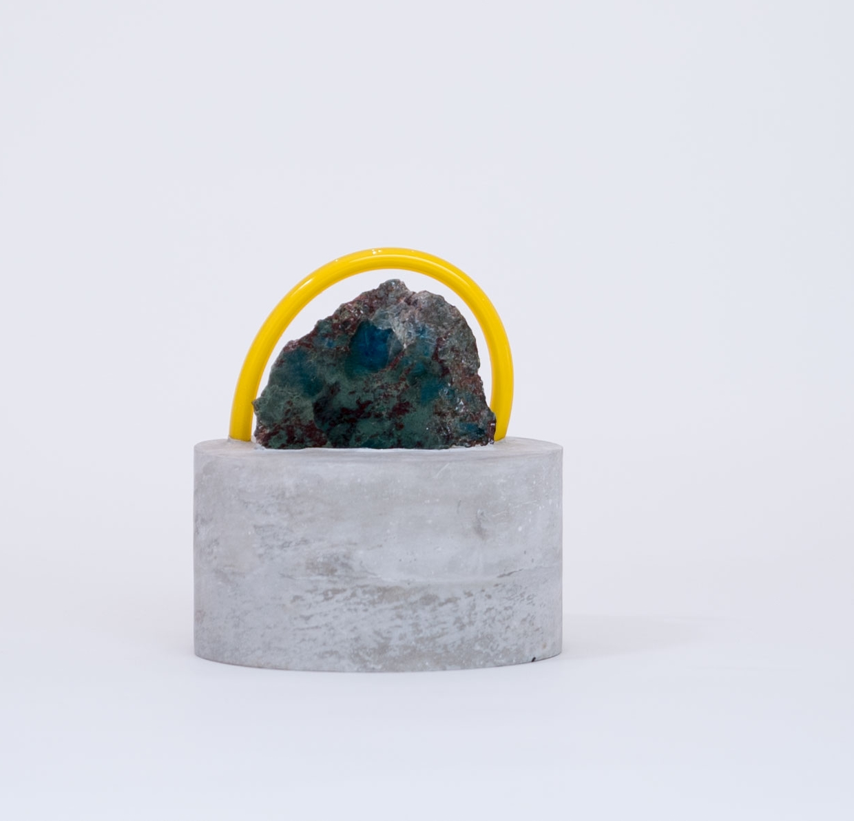 ESTHER RUIZ - UntitledCement, glass, green marble5 x 5 x 7