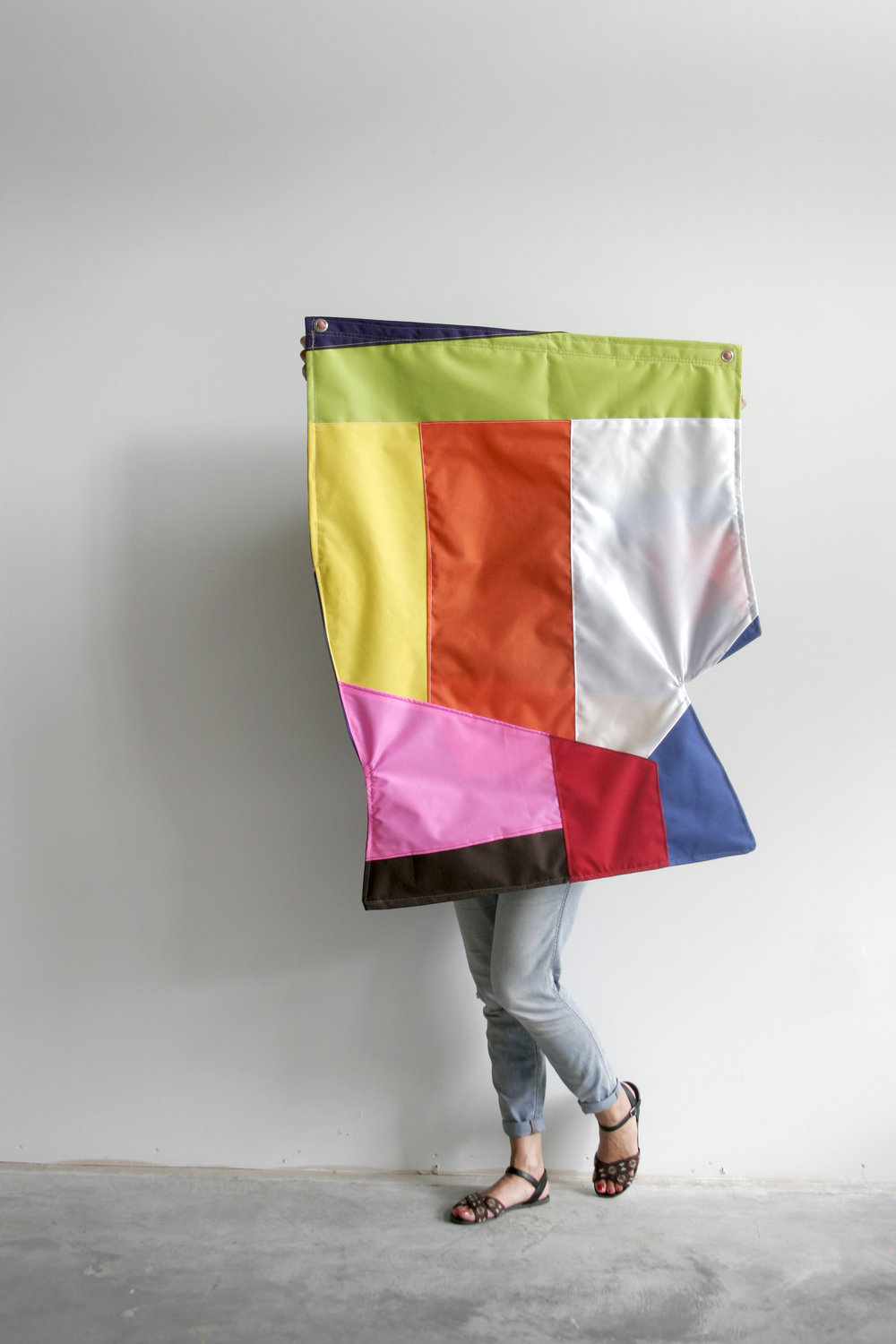 Cristina Victor - Rule Breaker or Spaz flag (side 2)nylon flag