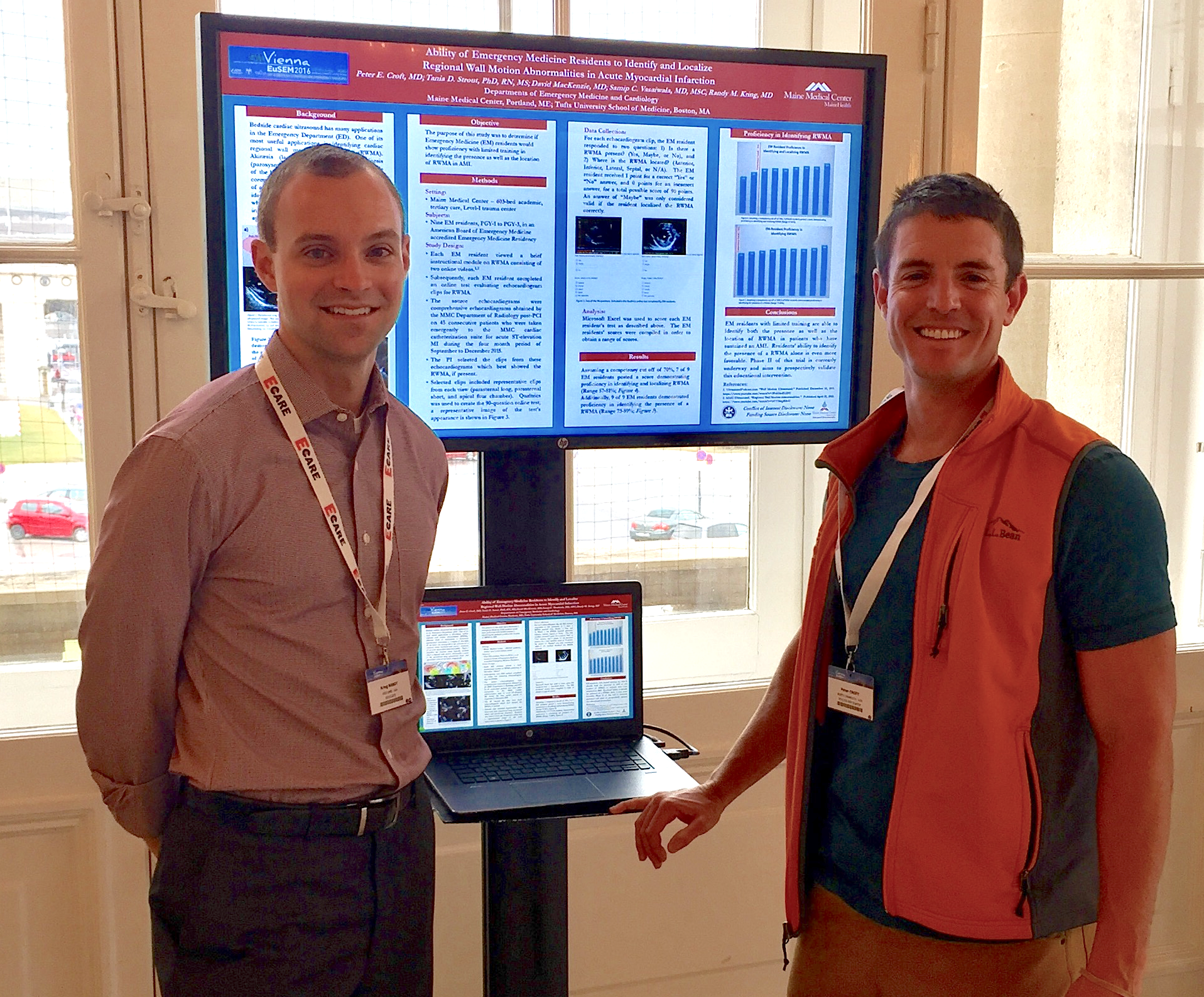Dr. Kring and Dr. Croft presenting at EuSEM 2016: European Congress on Emergency Medicine in Vienna, Austria