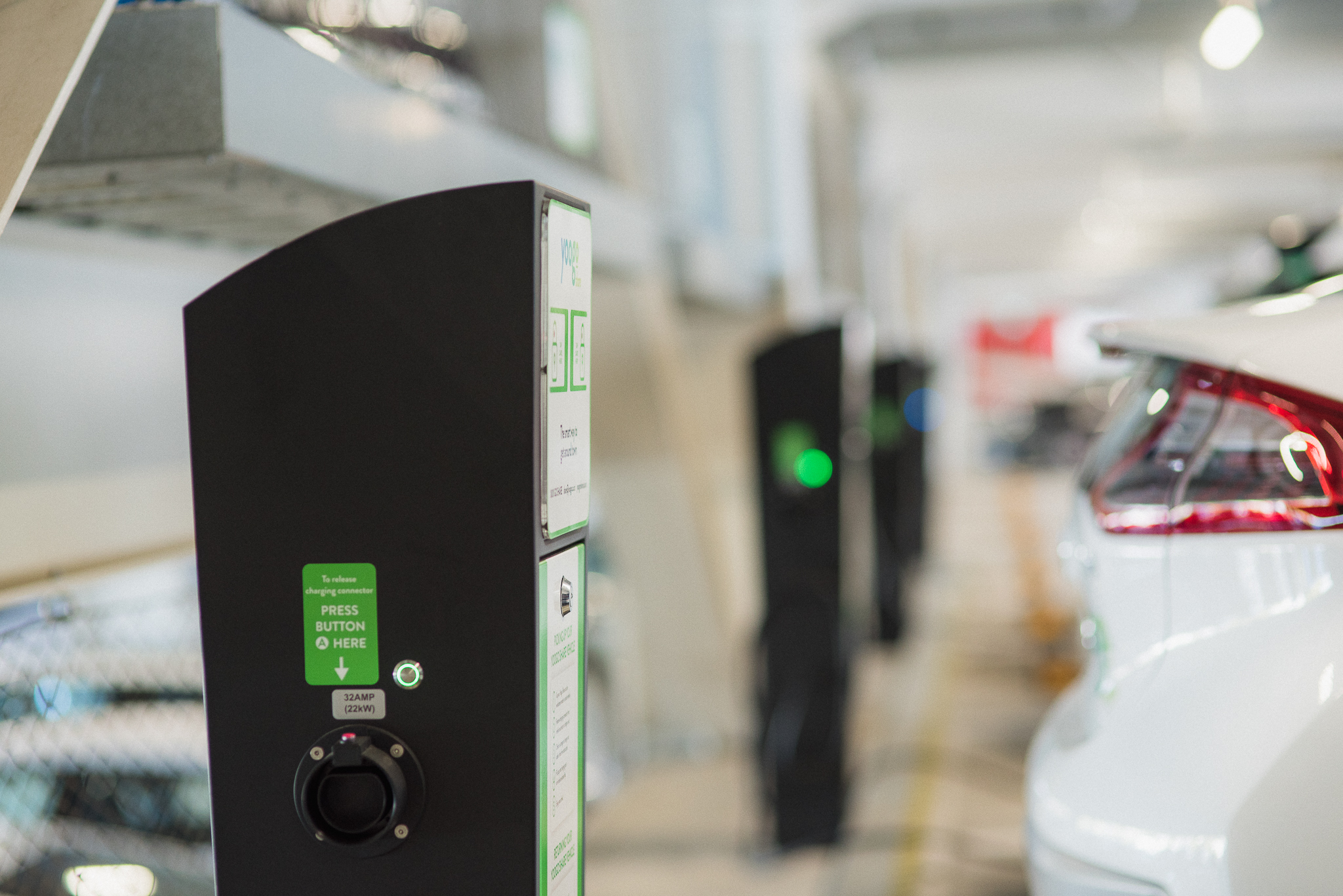 Rolec Autocharge stations are installed at Christchurch's West End carpark.