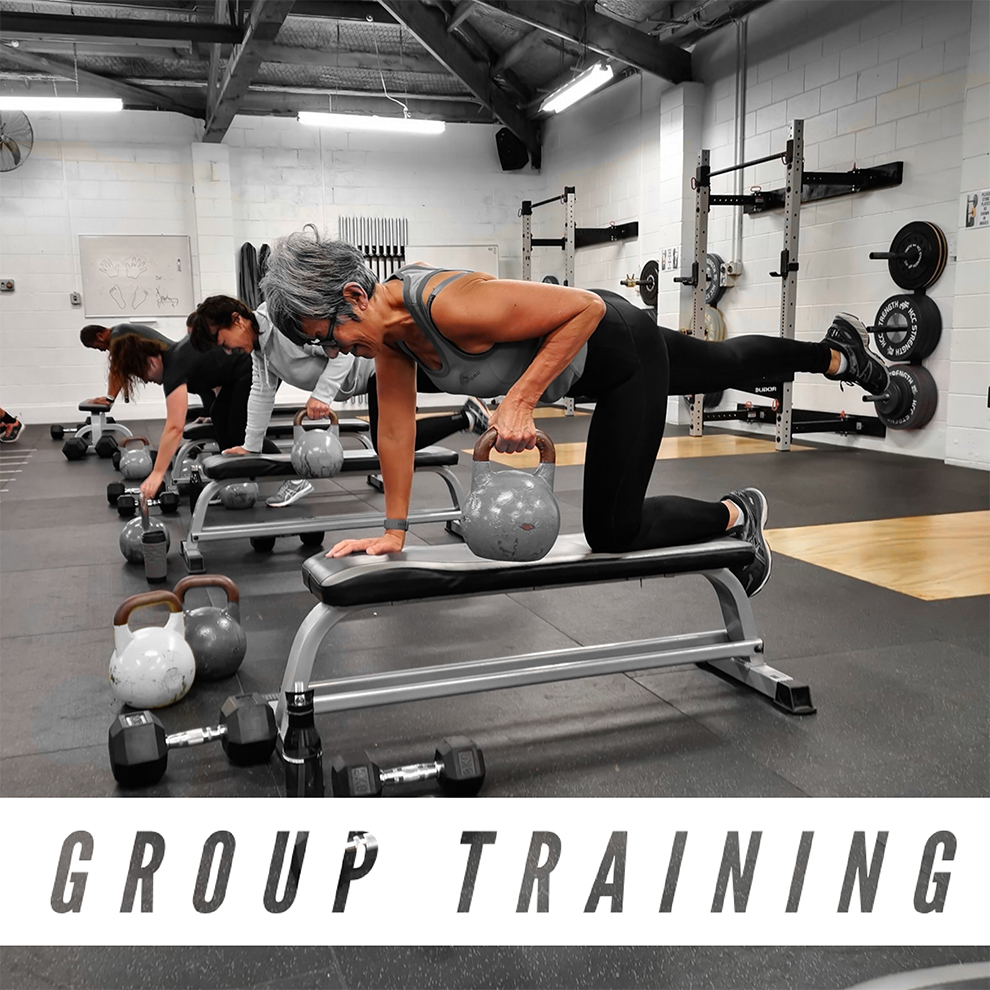 GT - Group Training - GT Classes are 40mins in duration. Working to your own ability, you will be guided and monitored throughout each session by a trained industry professional to ensure you are moving and training in a safe manor at all times. These sessions are full body circuit style sessions utilising both free weights and body weight to get maximum results. You can expect to burn body fat and tone muscle by mixing resistance, strength and conditioning training with endurance, speed and agility all wrapped into an exciting and fun packed training experience.