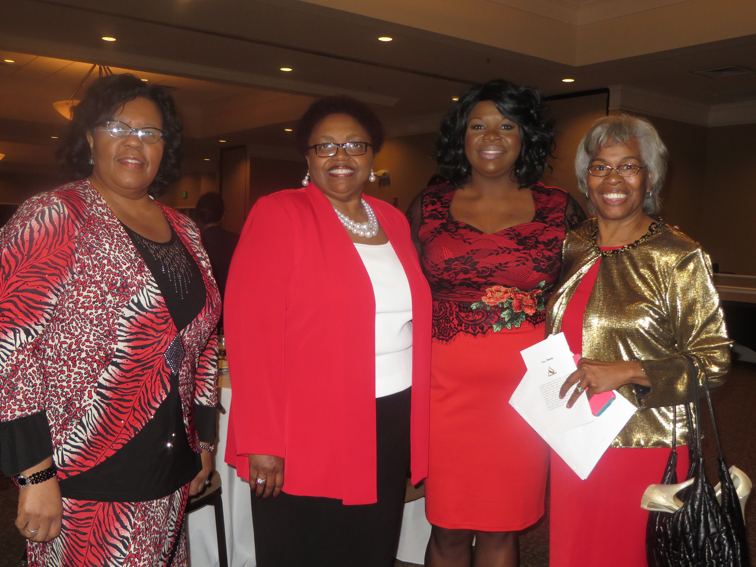 Patricia Taylor, Co-Chair; Roslyn Wilson, President and Co-Chair; Laurice Lanier-Trowell, Speaker; andPatricia Porter