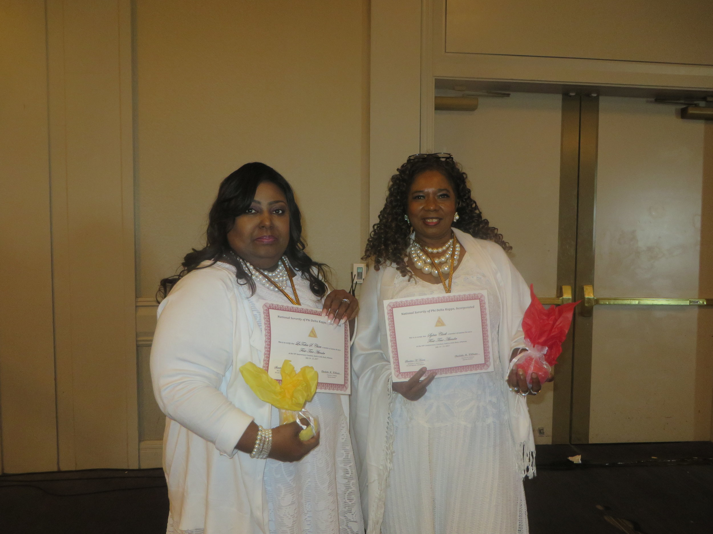 LaToshia Chism and Sylvia Clark, First Time Attendees