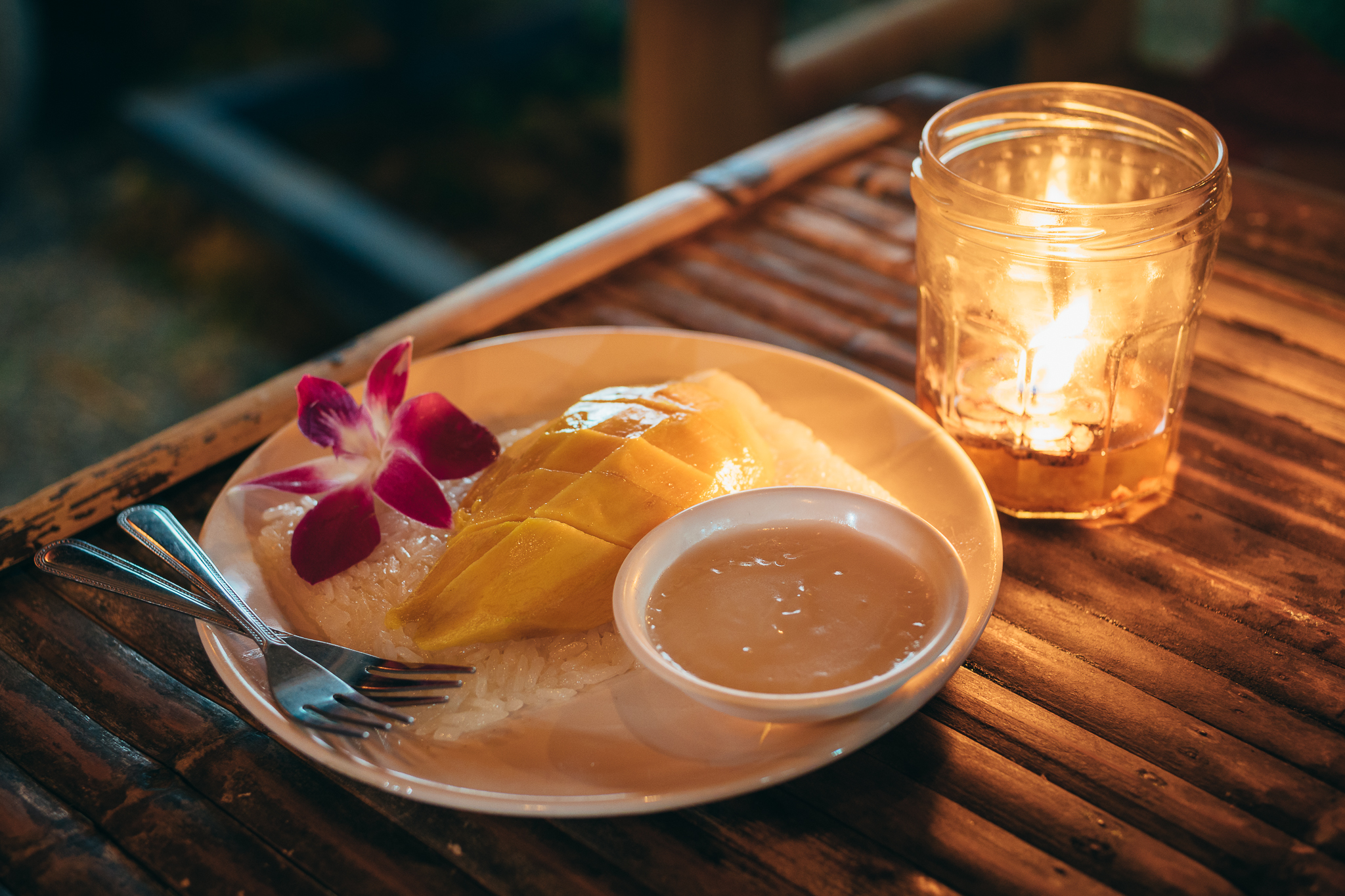 Best for last: Mango sticky rice with coconut milk. The only thing we regret is not having discovered this earlier on our trip!