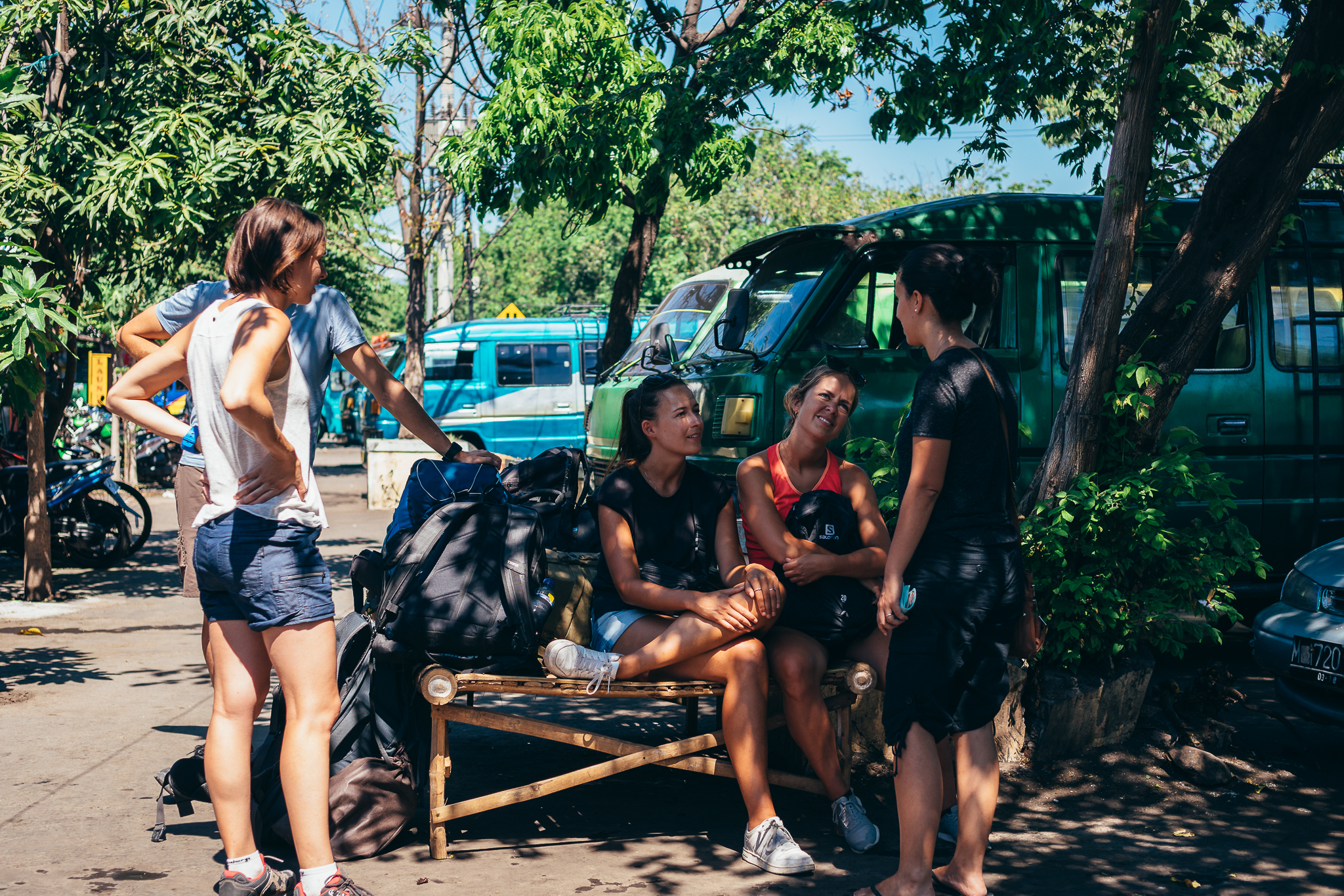 The waiting game. Fortunately, we didn't have to wait long for the mini-bus to get full, but others had already been waiting for hours.