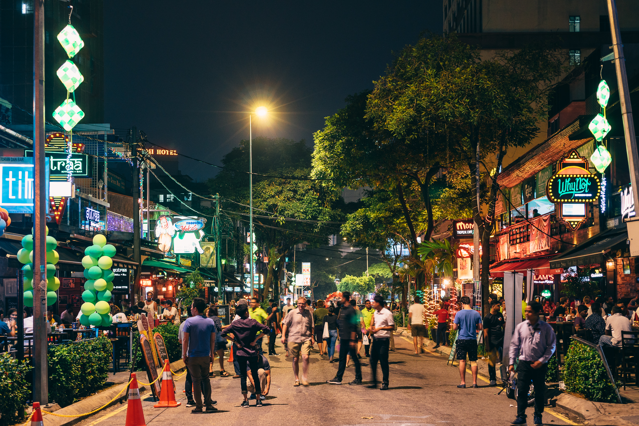 Changkat Bukit during the end of the Ramadan.The road was closed off for people to walk through freely.