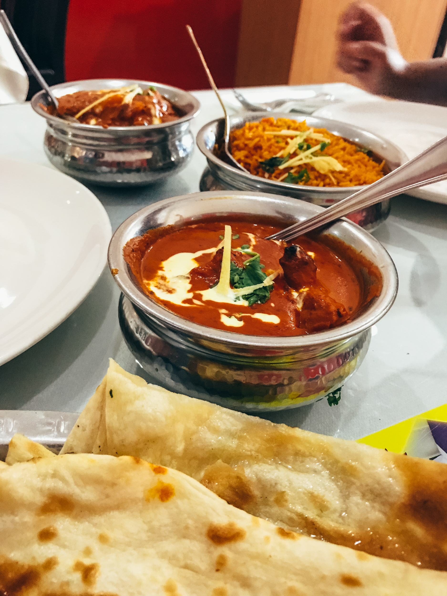 One of our meals at Mogul Mahal