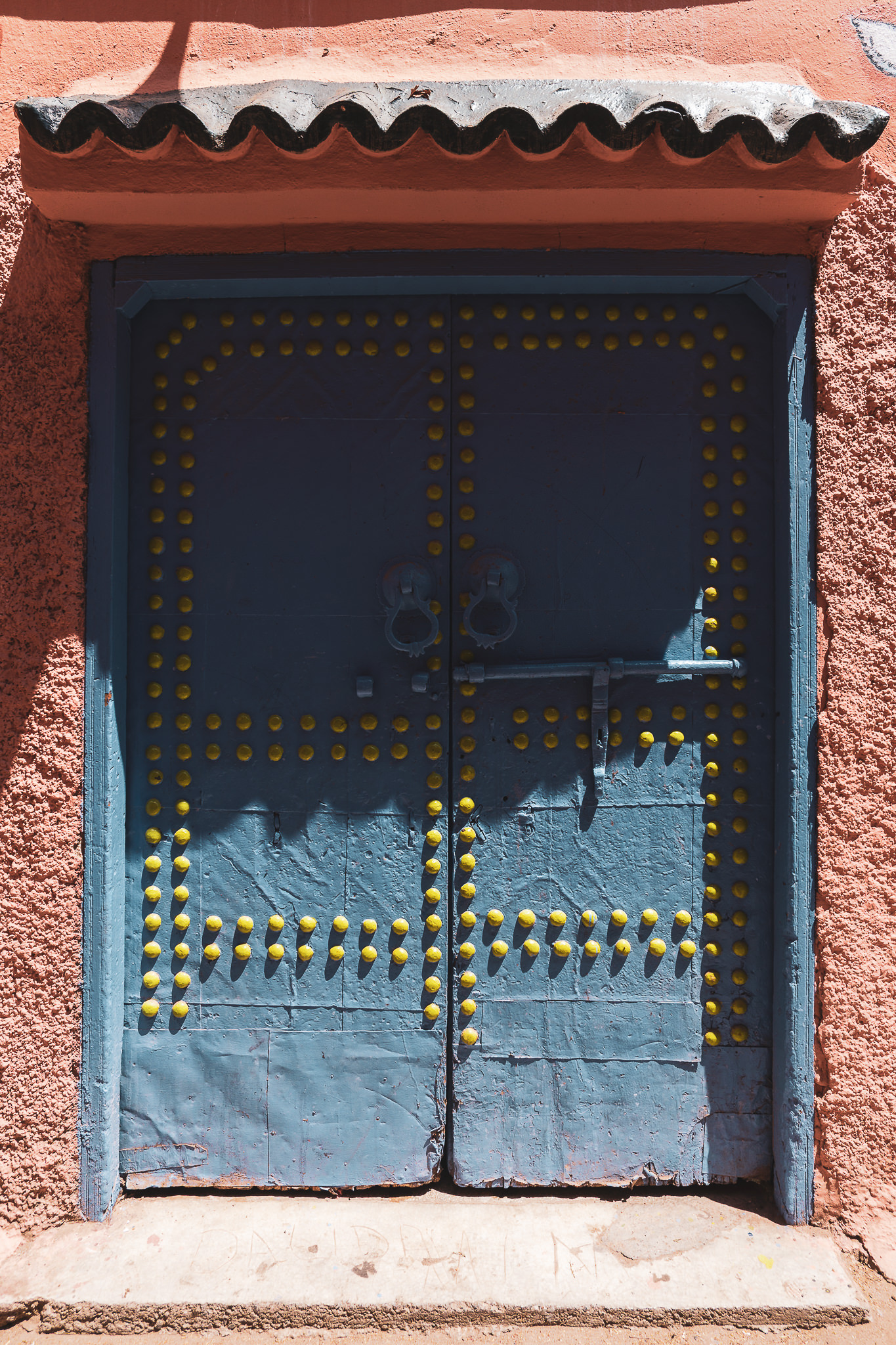 Marrakech ornate door #1