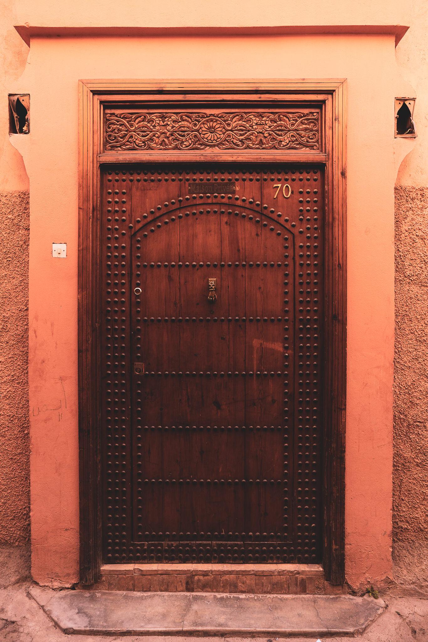 Marrakech ornate door #2