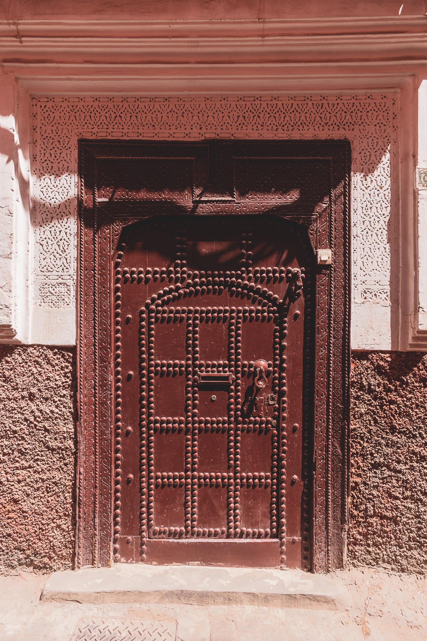 Marrakech ornate door #6