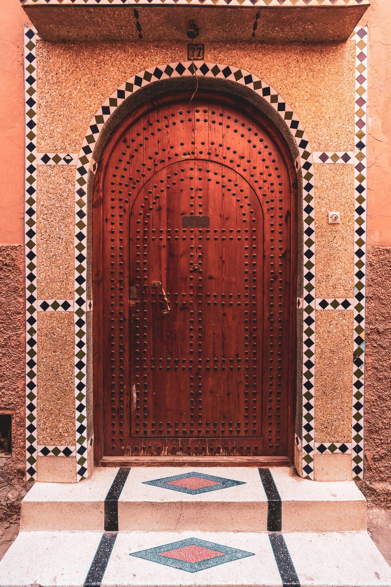 Marrakech ornate door #4