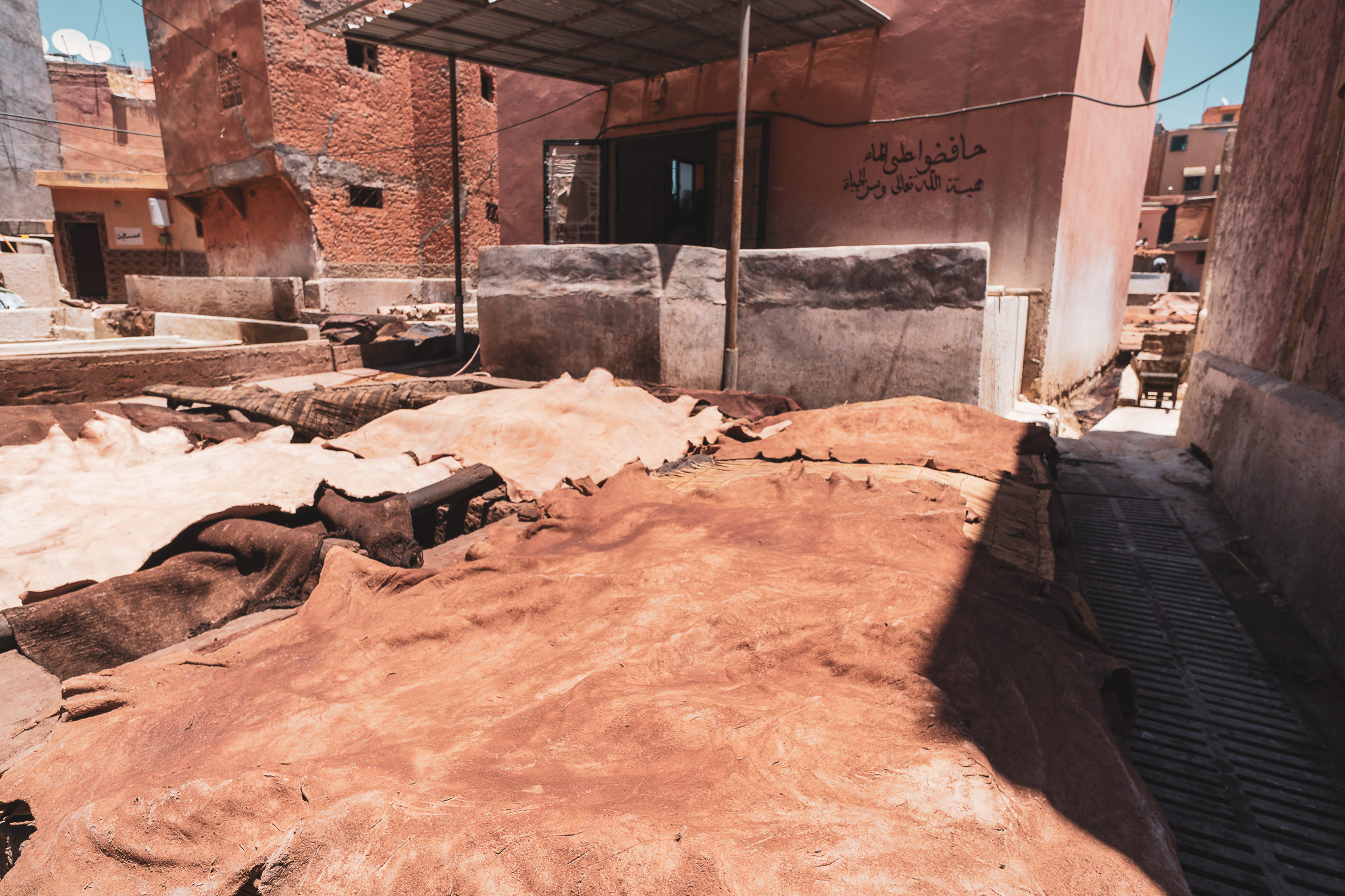 Leather being made, Marrakech