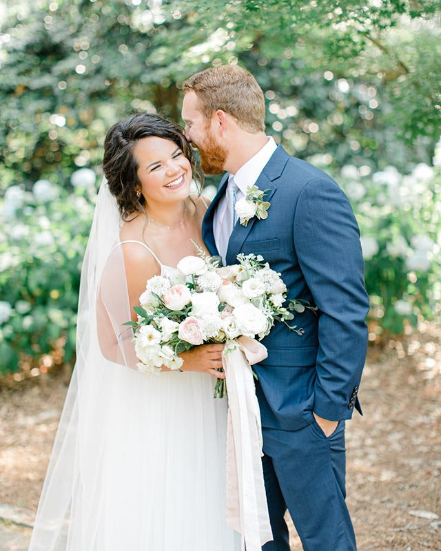 All smiles on this beautiful Friday morning! Got a few sneak peeks back from @maggmccoy from this past Sunday and they are stunning! Nikki and Spencer were a dream to work with, and I'm so thankful for the team of vendors that executed their vision so flawlessly.