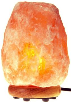 WBM Himalayan Salt Lamp with Neem Wood Base