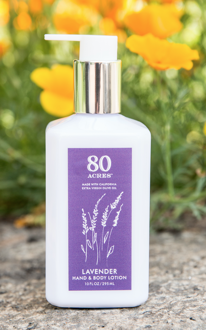 <strong>80 ACRES</strong><br>Lavender Hand and Body Lotion