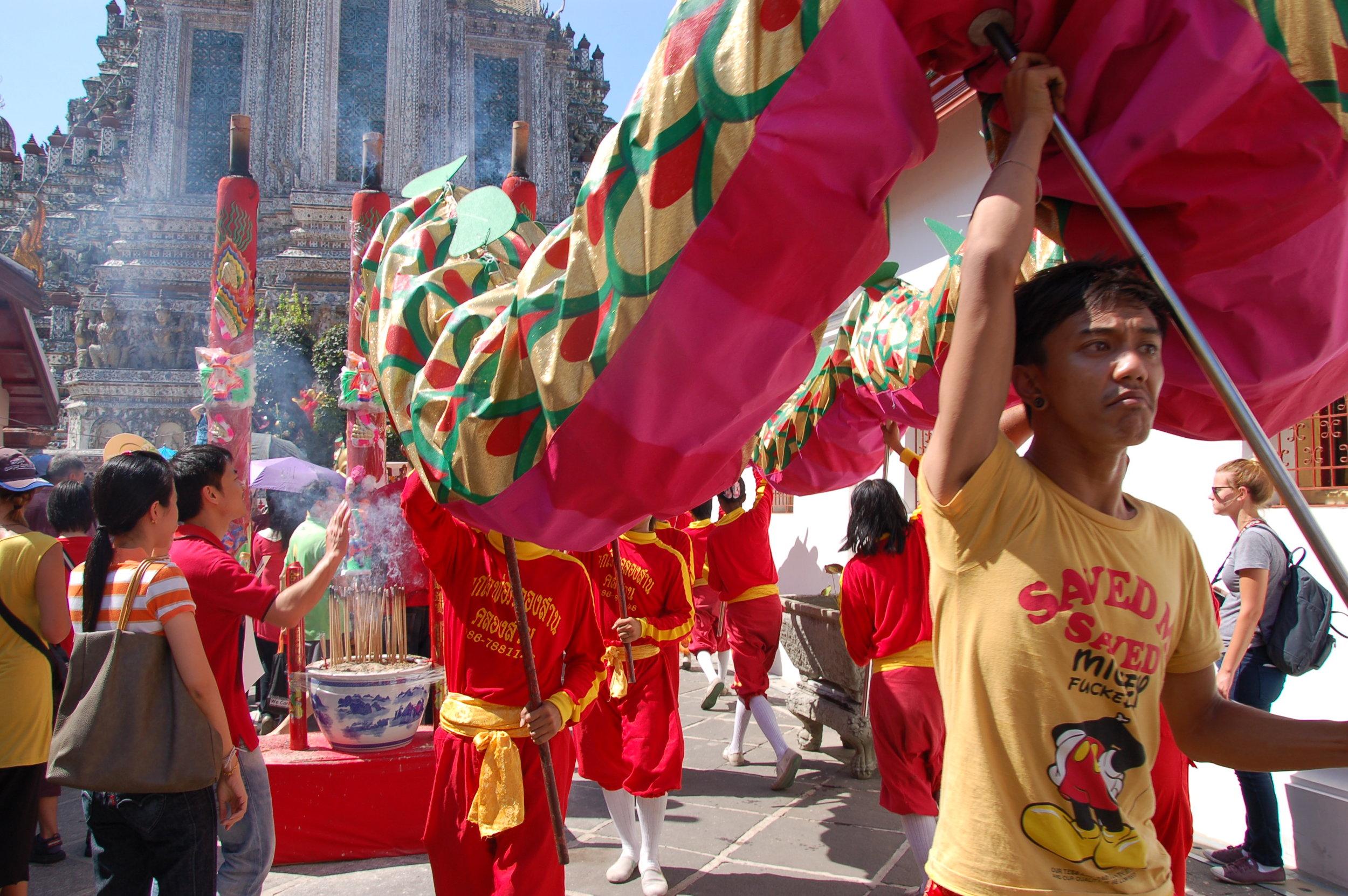 Chinese New Year celebration at Wat Pho in Bangkok